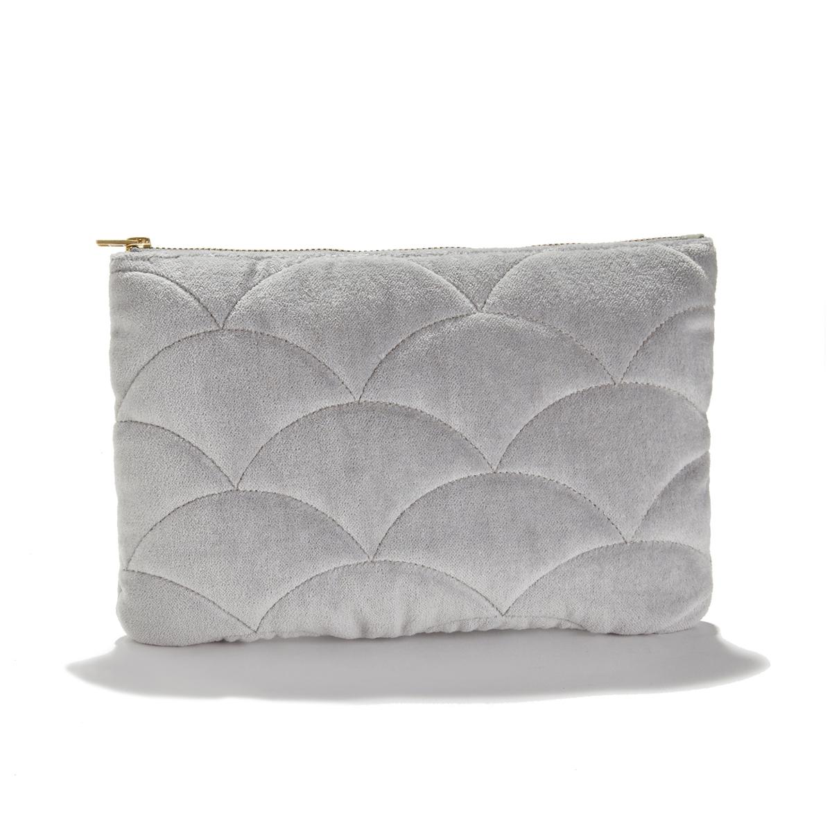 Сумка-клатч La Redoute Чистый хлопок Velvet единый размер серый