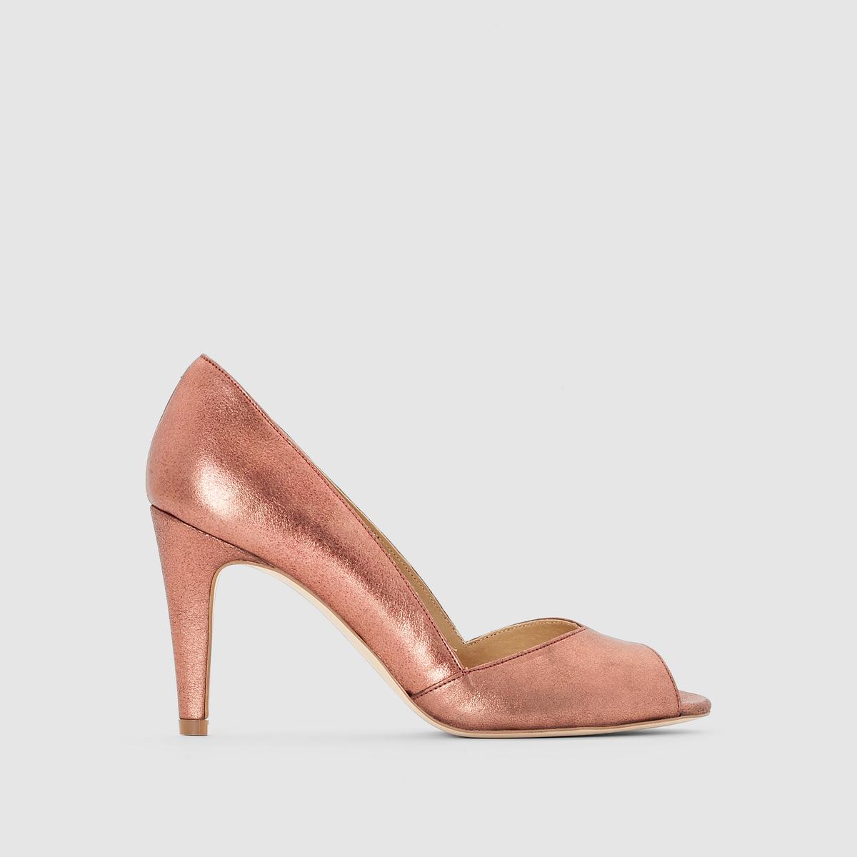 Туфли на каблукеПреимущества  : туфли JONAK пленяют аутентичным внешним видом ламинированной кожи, формой с тонким каблуком и непреодолимым духом нео-ретро.<br><br>Цвет: розовый<br>Размер: 41