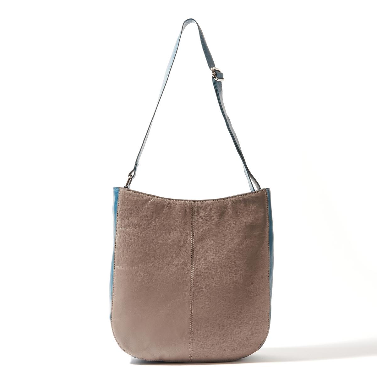 Сумка кожанаяСостав и описаниеМатериал : кожаный верх                 подкладка из текстиляМарка : R essentiels.Размеры :Ш35 x В32 x 5,5 смЗастежка : молнияНосить через плечо.2 кармана для мобильных1 карман на молнииРегулируемый ремень.<br><br>Цвет: красный/темно-бежевый,сине-серый<br>Размер: единый размер.единый размер