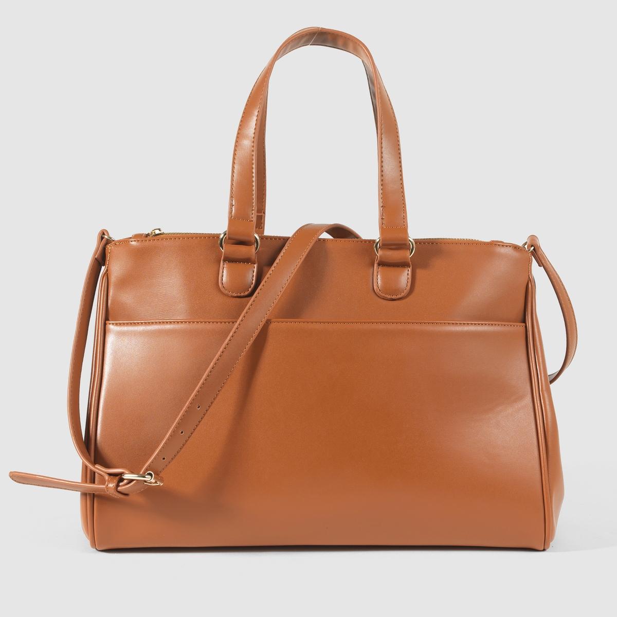 Сумка-портфельПреимущества : Незаменимая сумка-портфель на каждый день,большое количество карманов и 2 отделения на молнии.<br><br>Цвет: темно-бежевый<br>Размер: единый размер