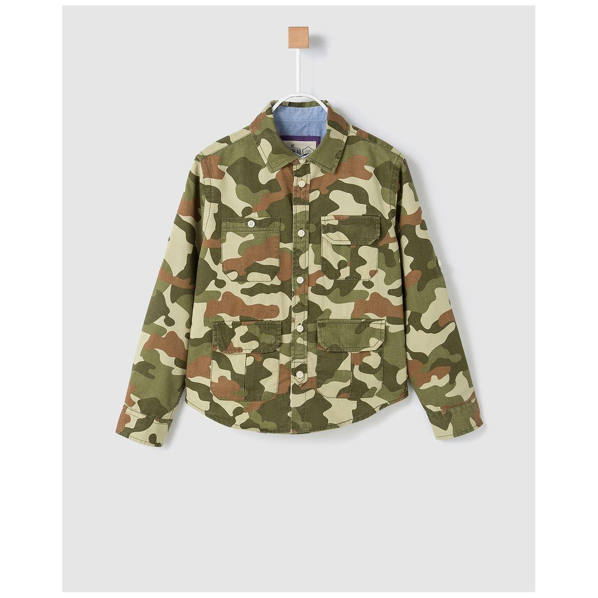 Chemise à imprimé camouflage