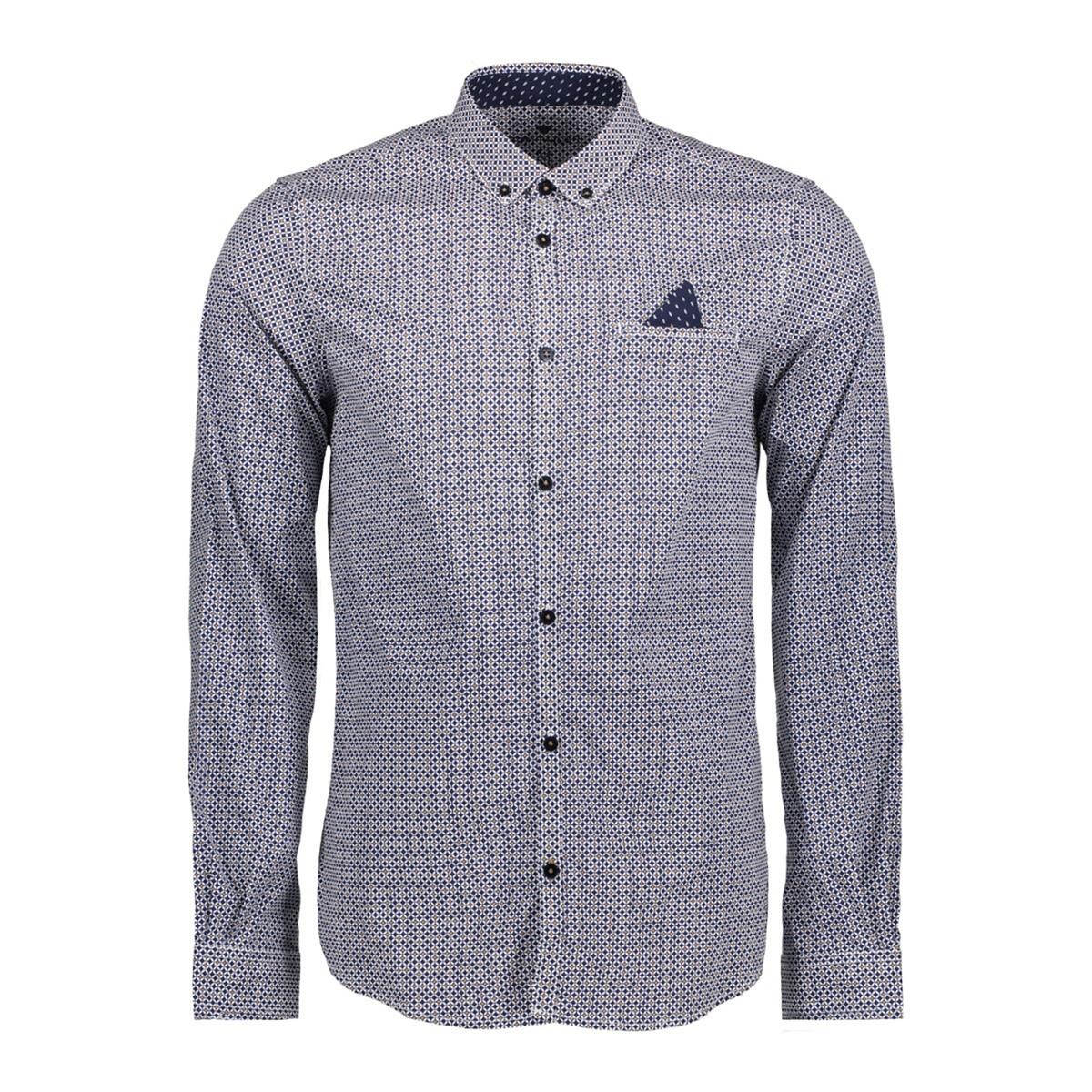 Рубашка узкого покроя с рисунком