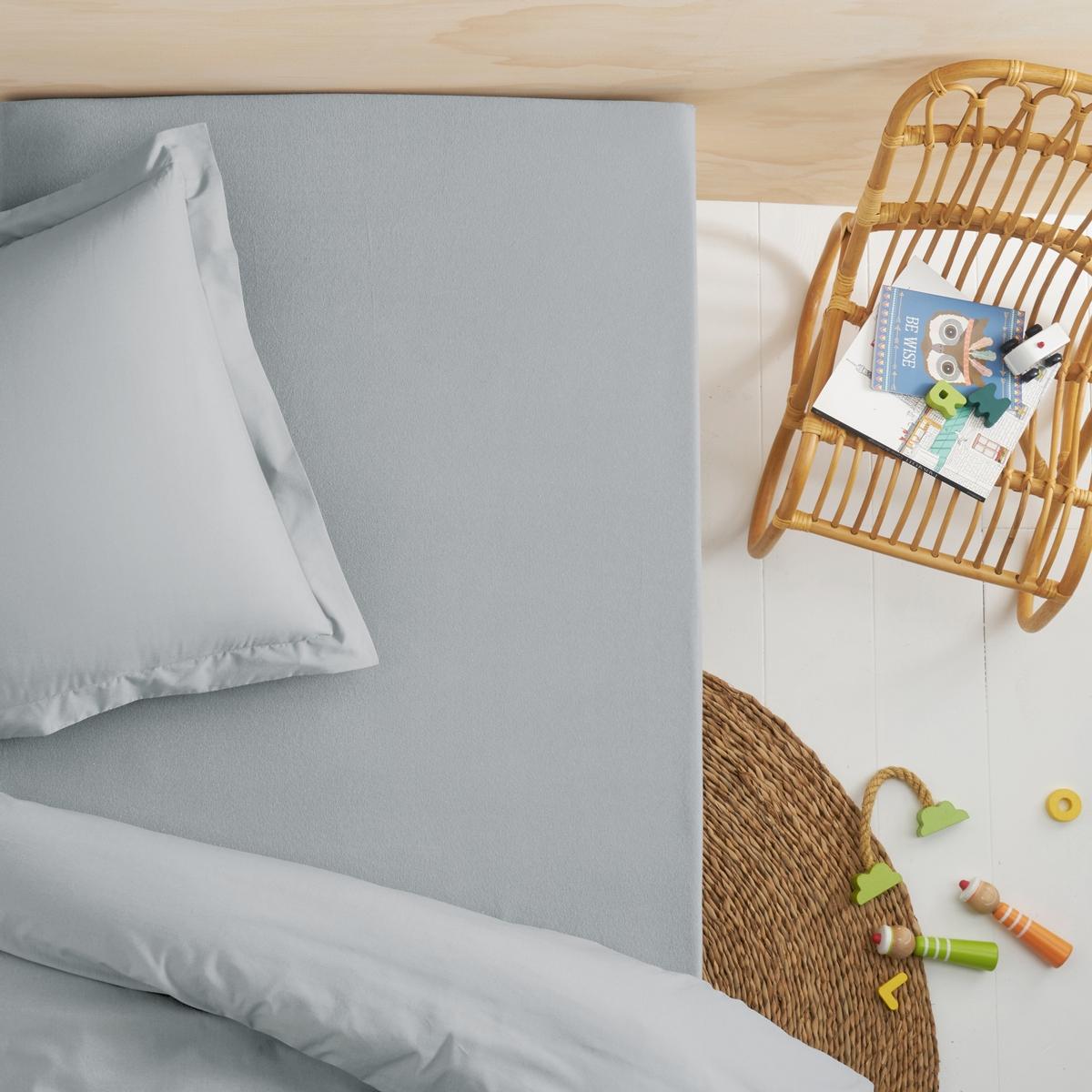 Простыня натяжная, джерси, 100% Био-хлопок, для детской кровати