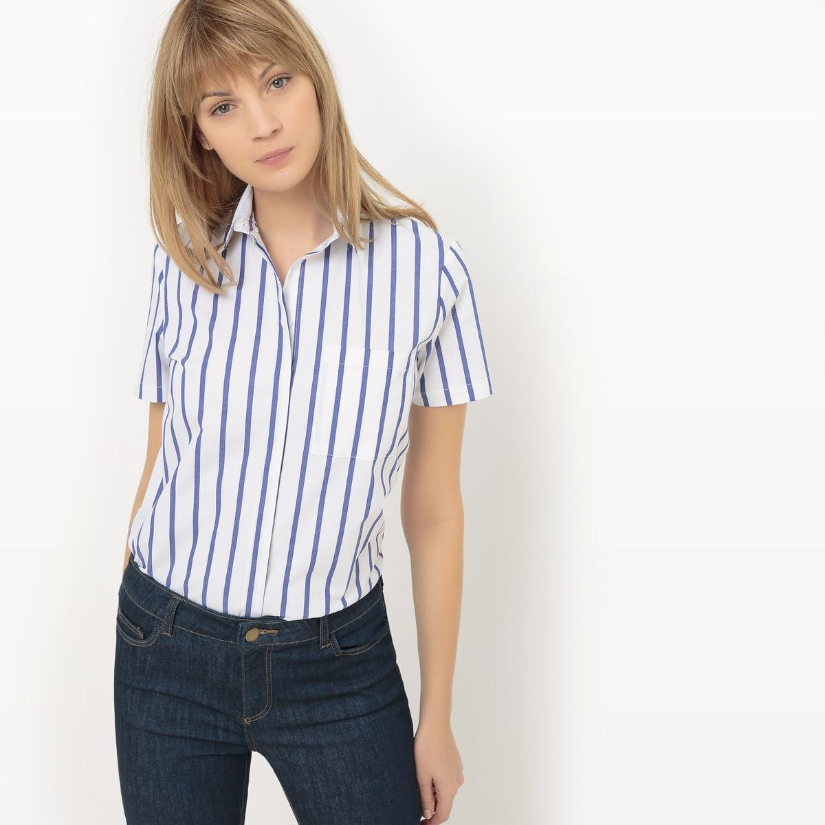 Рубашка с короткими рукавами в полоску