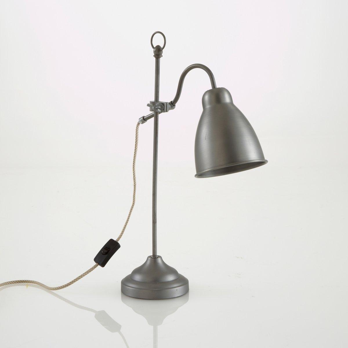 Лампа настольная из металла, MaxileОписание настольной лампы Maxile : Патрон E14 для лампочки макс 40W (не входит в комплект)  Этот светильник совместим с лампочками    энергетического класса    : A - EХарактеристики лампы Maxile :Эпоксидное покрытие серого цвета .Текстильный кабель .Размеры лампы Maxile :Основание: 14см по диаметру Высота: 53,5см Глубина: 35 см Размеры и вес упаковки :590x200x270мм0,8кг<br><br>Цвет: серый металл