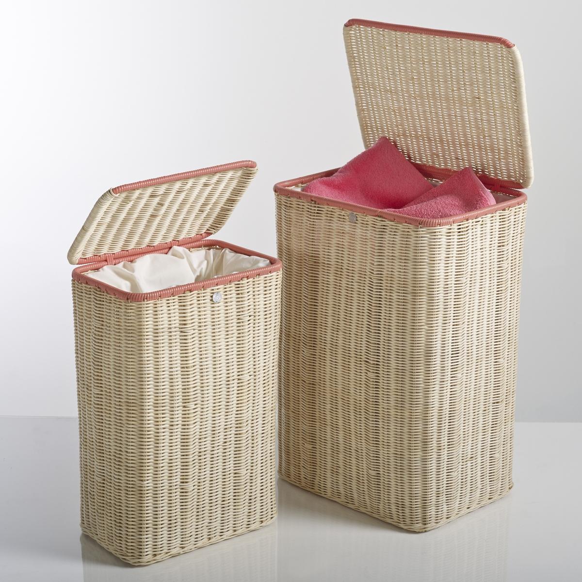 Комплект из 2 корзин с плетеной крышкой KOK, Ozier