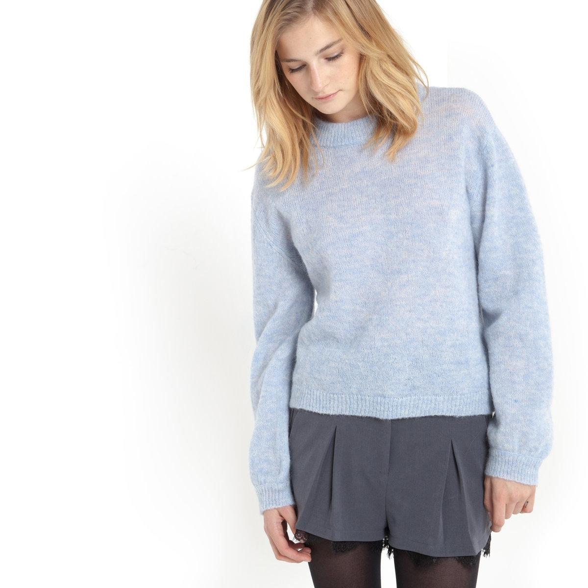 Пуловер из трикотажа и рукавами с напуском