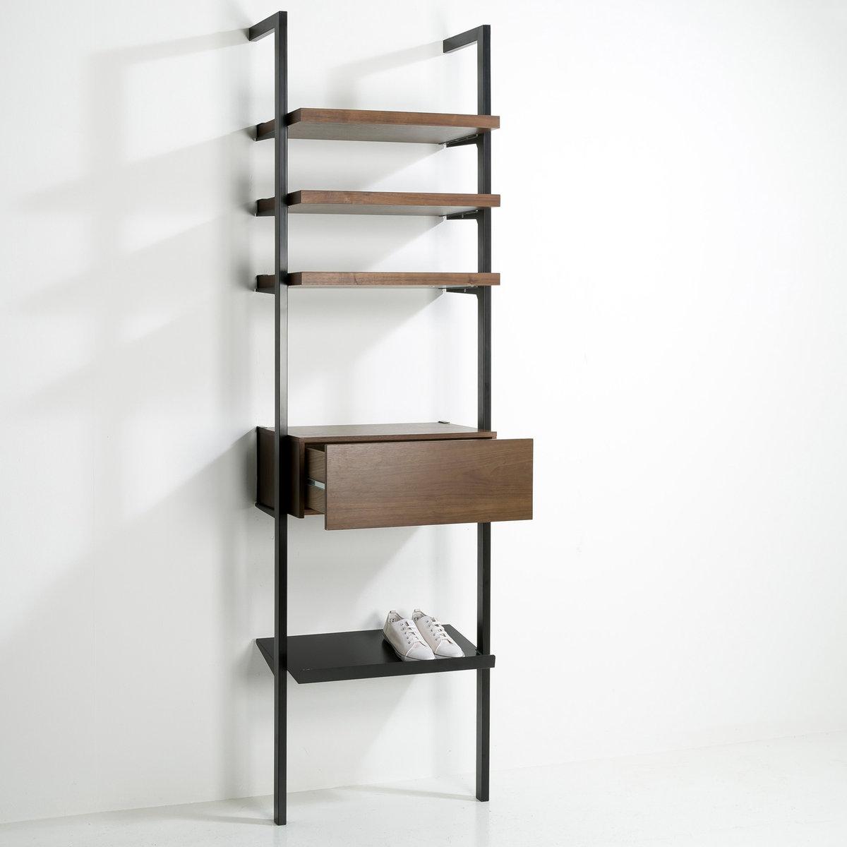 Полка для обуви, Kyriel (комплект из 2)Полка для обуви из металла с эпоксидным покрытием Kyriel, крепится на стену с помощью кронштейнов, входящих в комплект .Размеры : .60 x .33,5 см.Мебель для гардероба Kyriel - это эстетичная и практичная система, модулируемая при желании, созданная для любых пространств и стилей   .<br><br>Цвет: черный