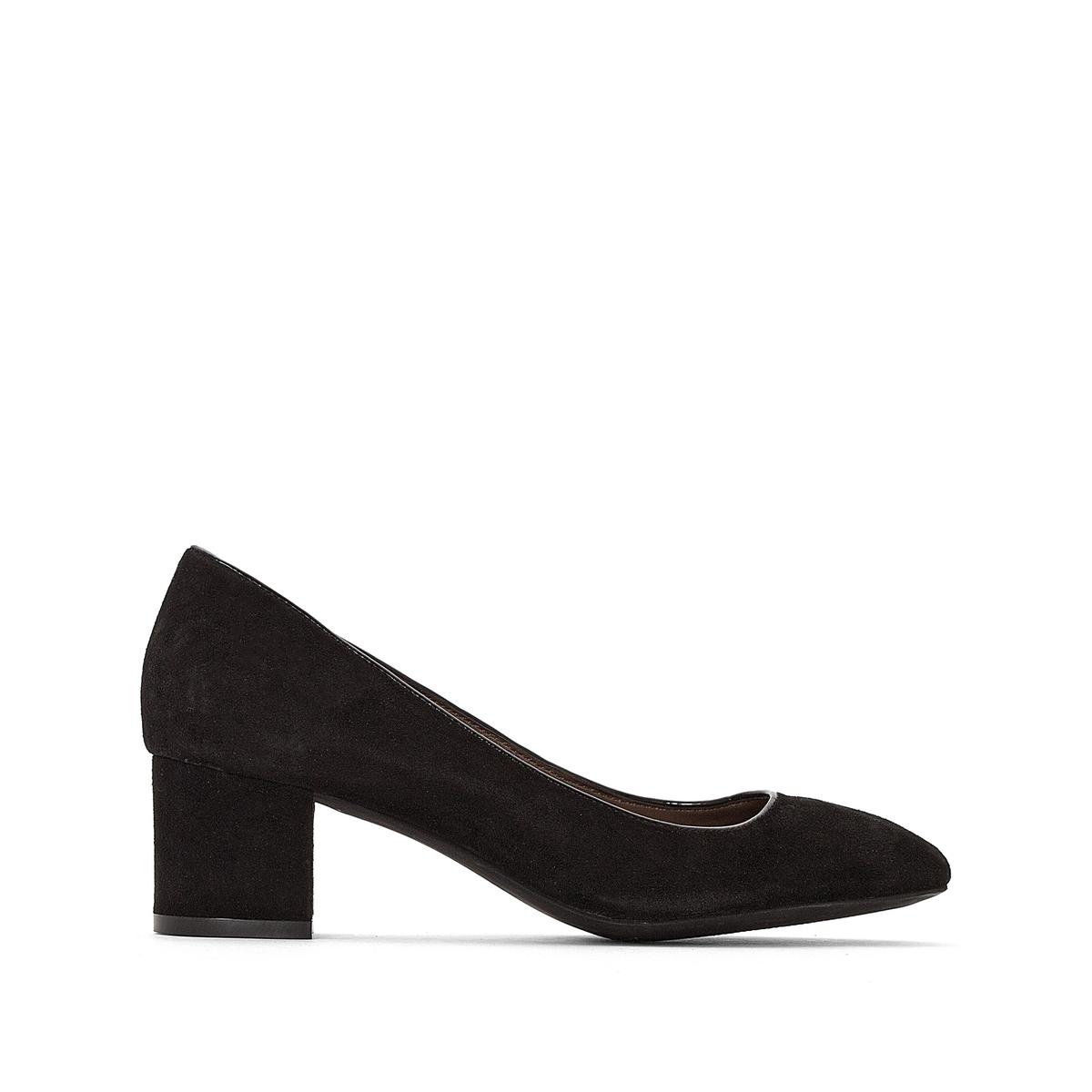 Туфли кожаные на квадратном каблуке