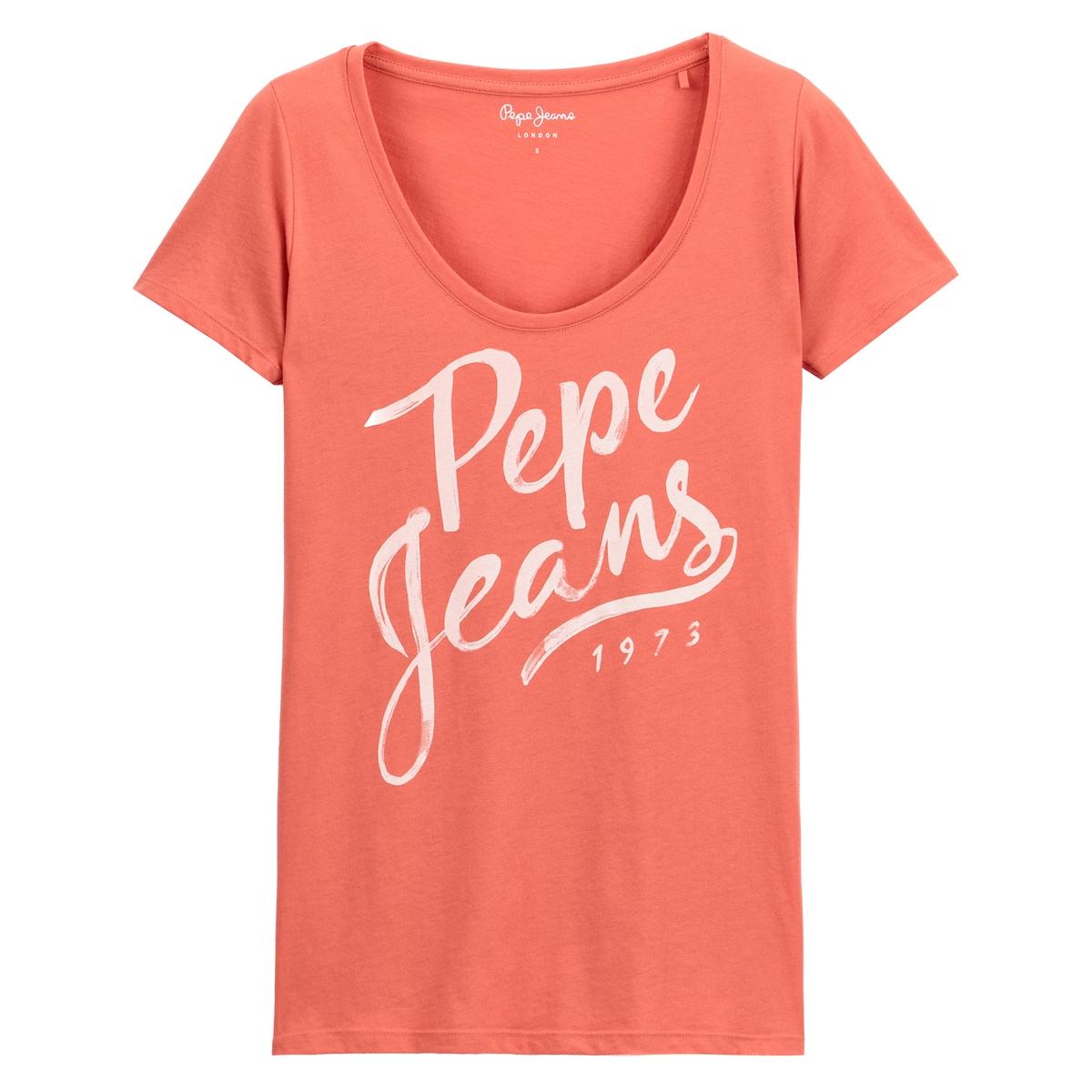 Imagen secundaria de producto de Camiseta con cuello redondo estampado delante Andrea - Pepe Jeans