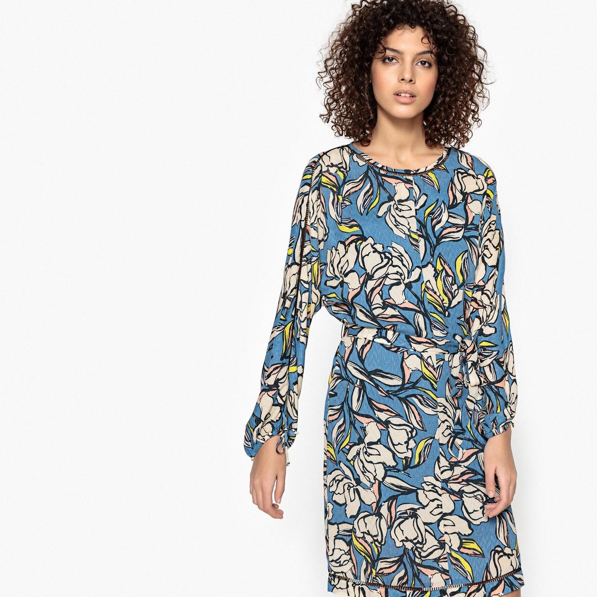Платье с длинными рукавами и рисунком CECILE недорго, оригинальная цена