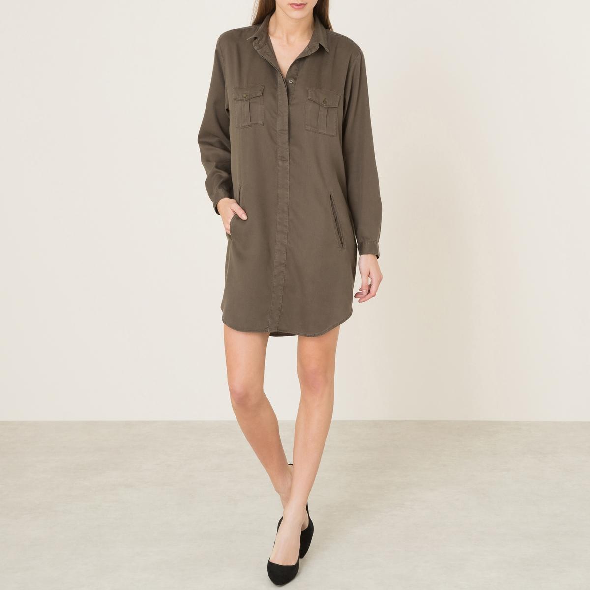Платье-рубашка из тенсела the kooples шорты для плавания