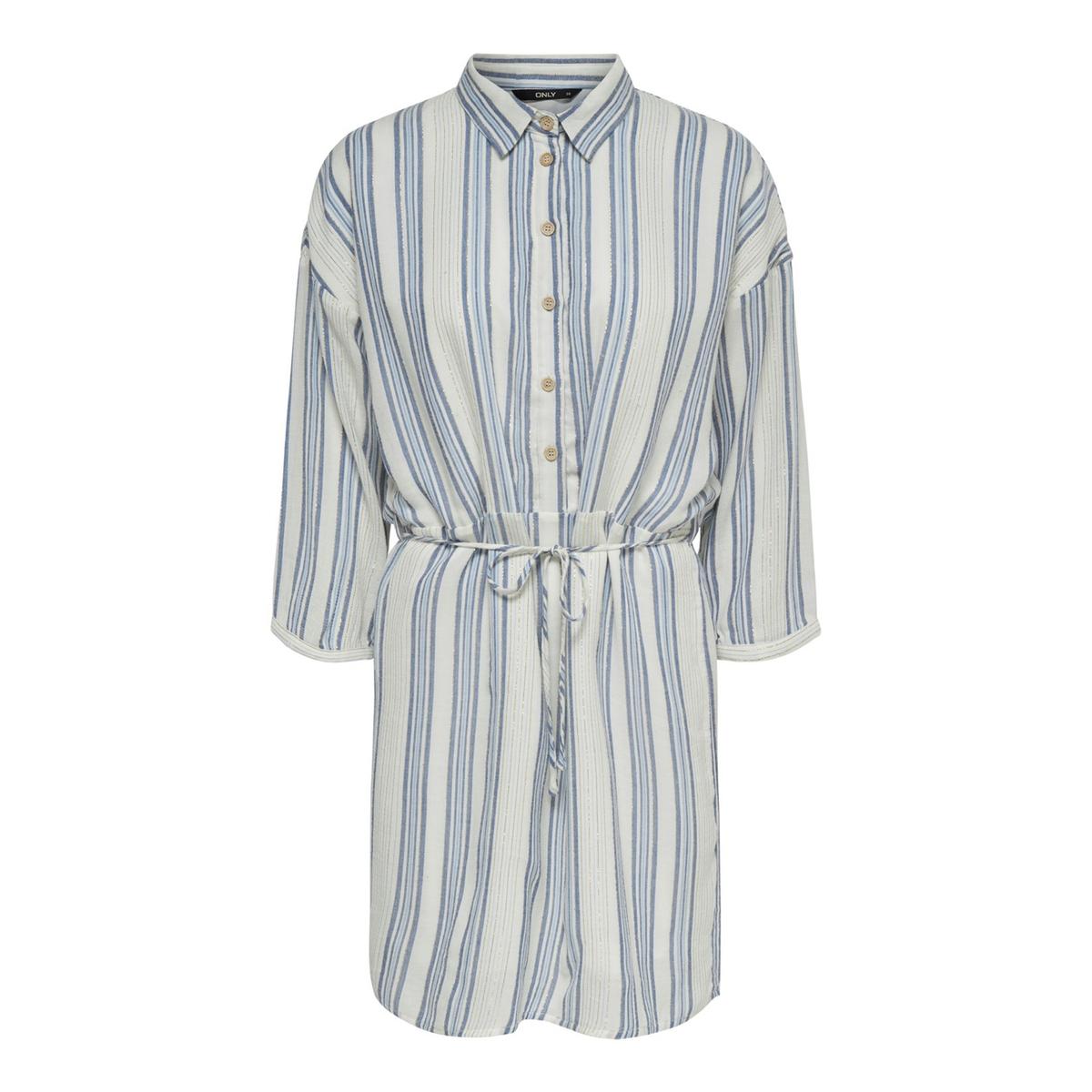 Платье-рубашка La Redoute В полоску с длинными рукавами 34 (FR) - 40 (RUS) бежевый