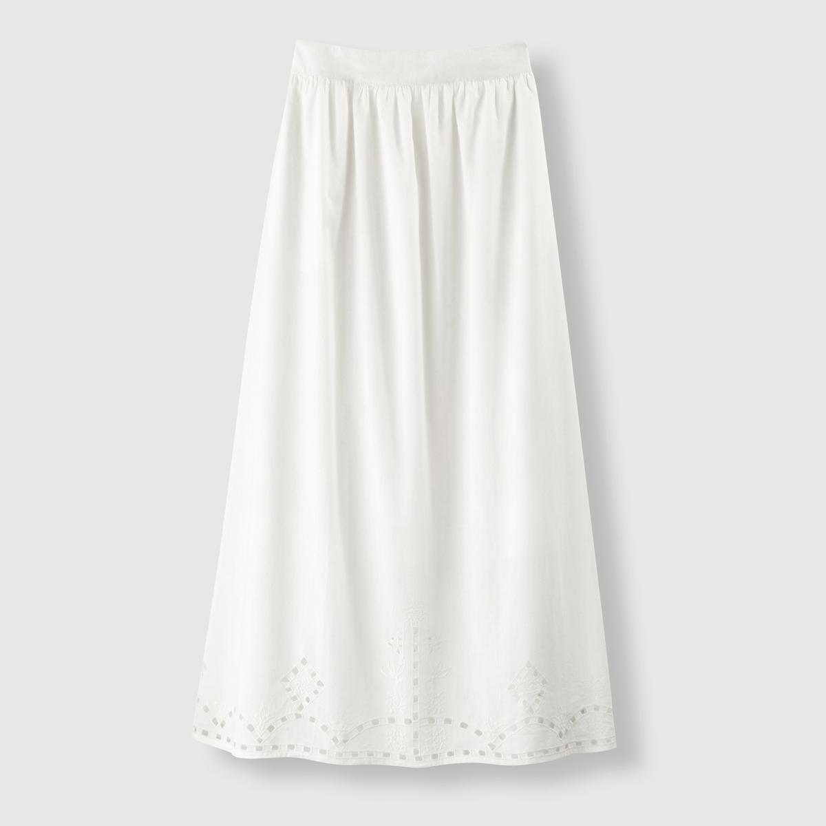 Купить со скидкой Юбка длинная с вышивкой