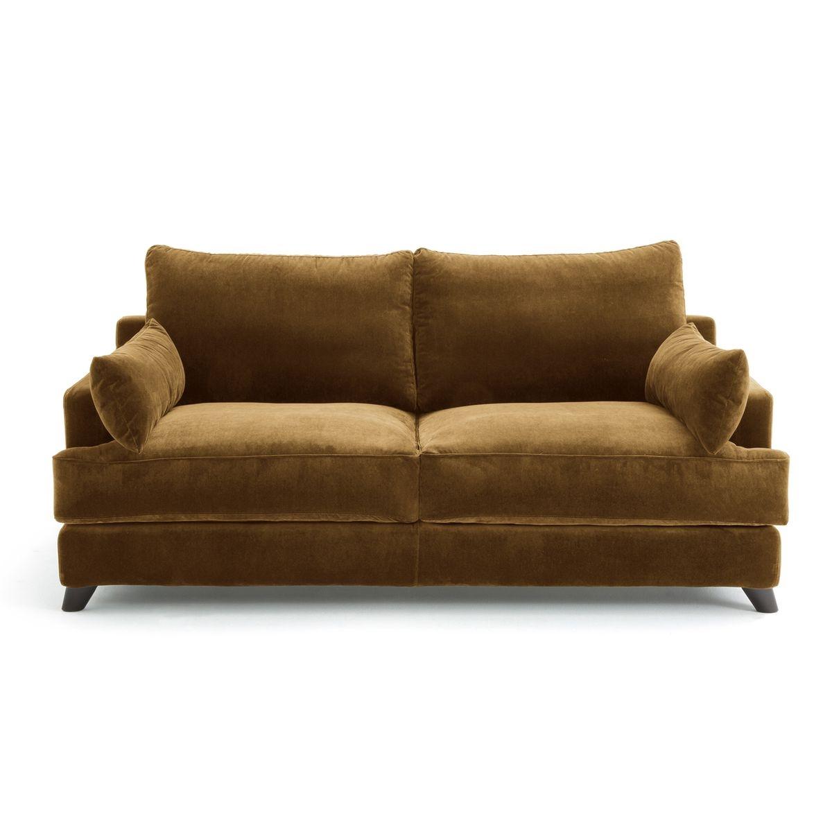 canap 3 pl conv alwine velours. Black Bedroom Furniture Sets. Home Design Ideas