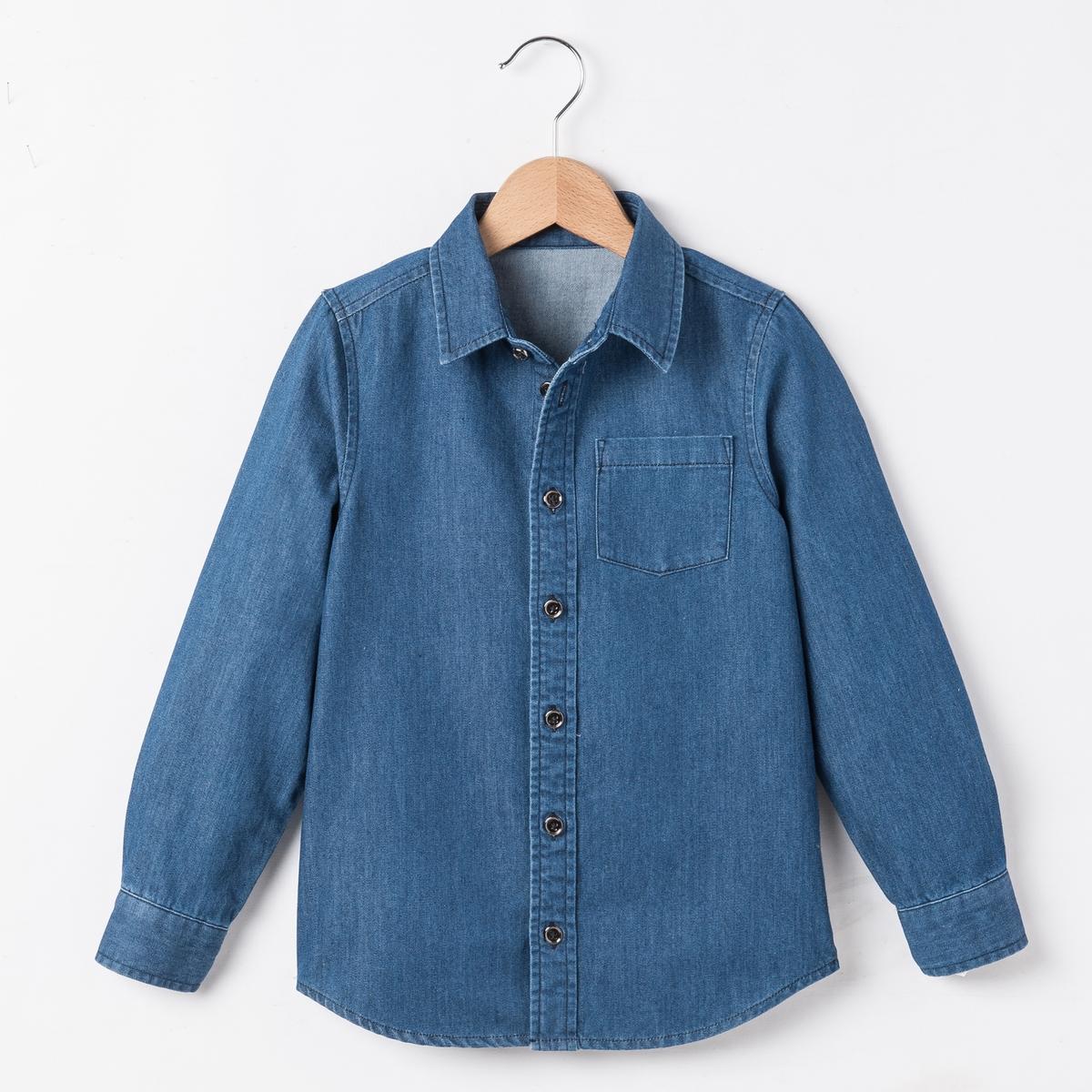 Рубашка из денима, 3-12 лет