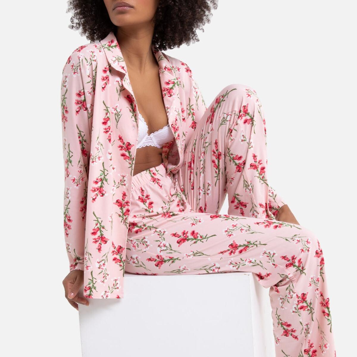 Pijama de punto suave estampado
