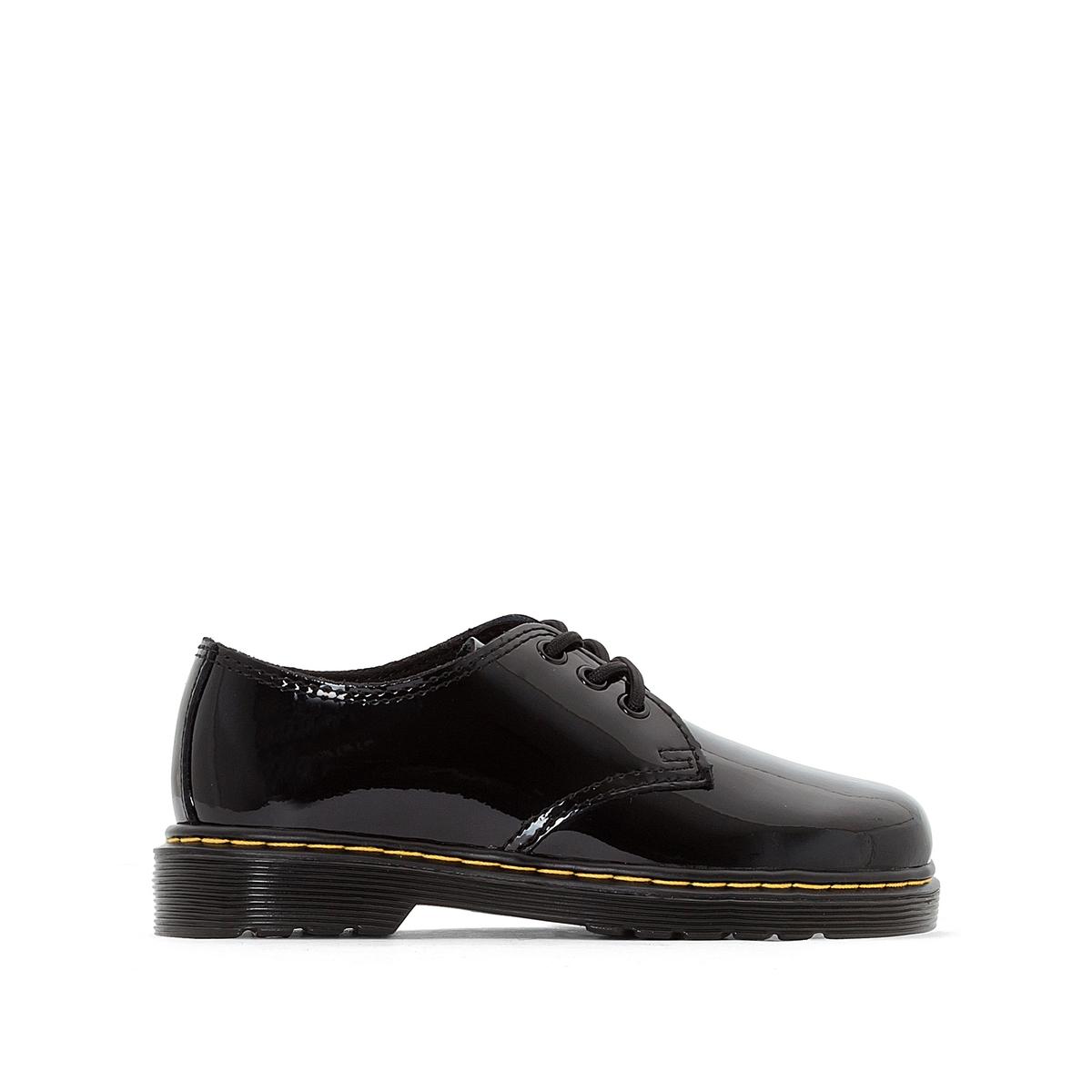 Sapatos derbies em pele envernizada, Everley