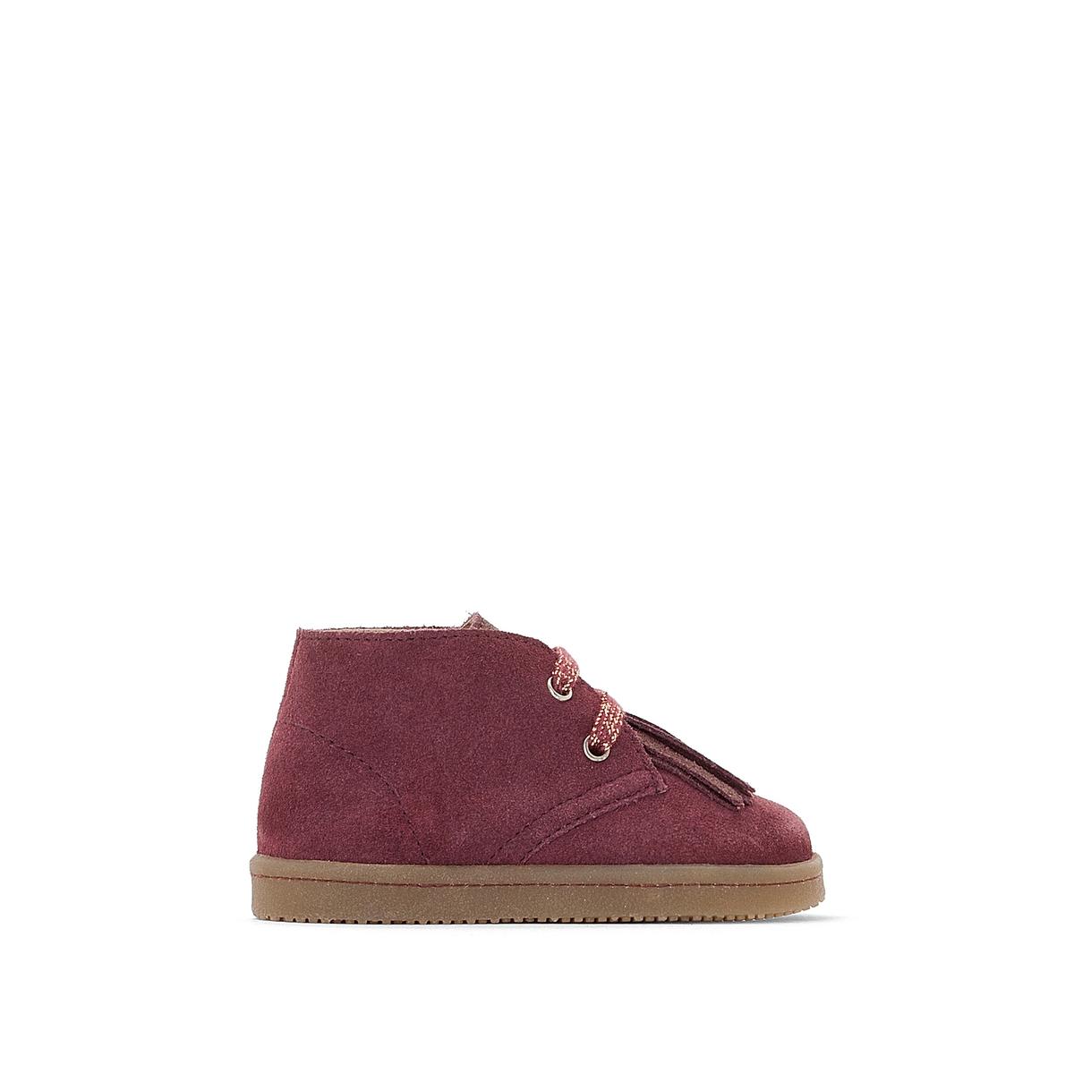 Ботинки кожаные на шнуровке, размеры 19-25 цены онлайн