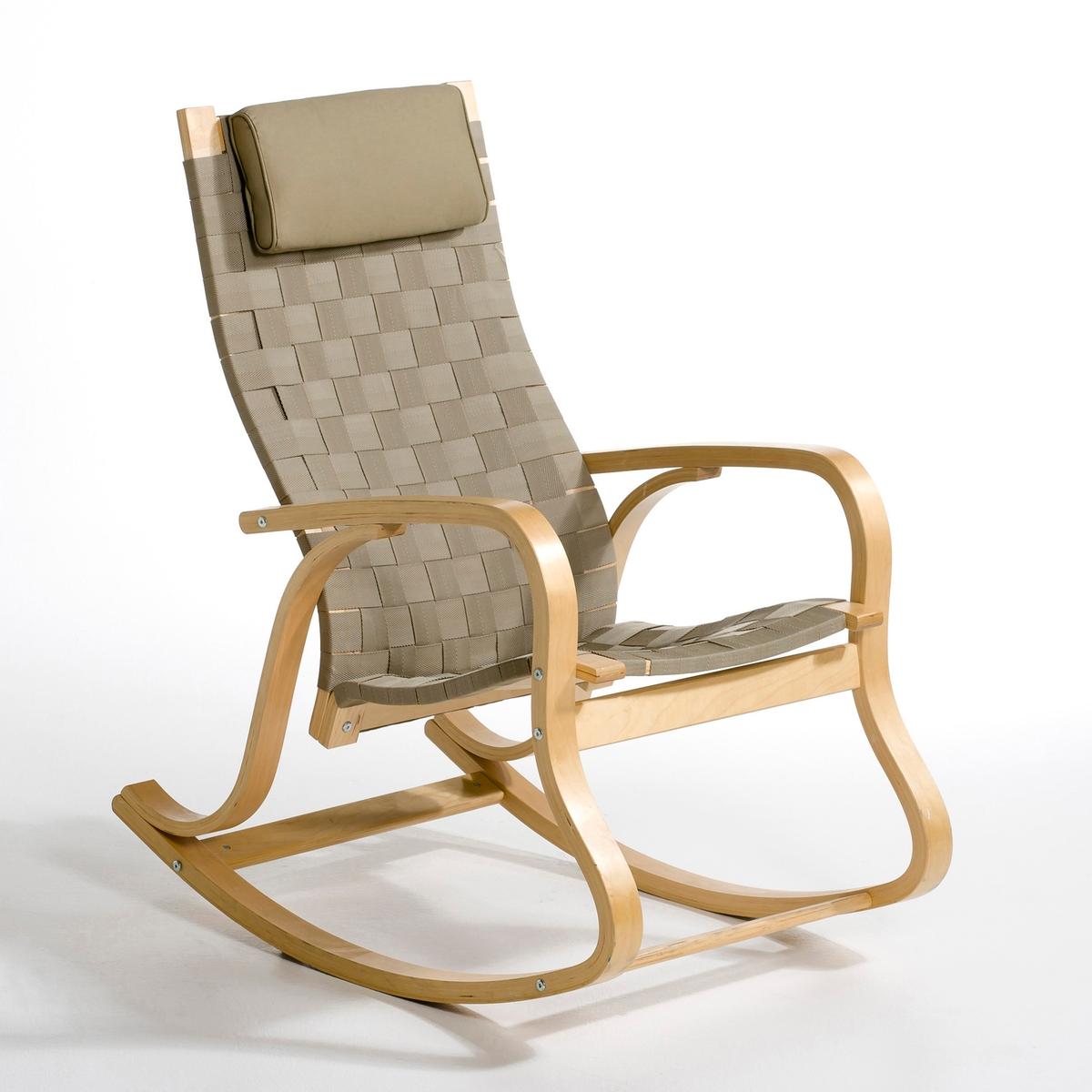 Кресло-качалка дизайнерское JimiКресло-качалка Jimi в современном стиле. Кресло-качалка Jimi сочетает дизайнерский подход и удобство, его пропорции идеально подходят для расслабления. Кресло займет достойное место в любом интерьере.Описание кресла-качалки Jimi :2 варианта расцветки : классический бежевый и модный черный.Характеристики кресла-качалки Jimi :Многослойная фанера из березы, отделка нитроцеллюлозным лаком.Покрытие сиденья и спинки из плетеных полиамидных волокон.Подушка подголовника из пенополиуретана со съемной тканевой обивкой из 100% хлопка.Другие стулья и дизайнерские кресла, а также всю коллекцию Jimi вы можете найти на сайте laredoute.ruРазмеры кресла-качалки Jimi :Общие :Ширина : 61 смВысота : 106 смГлубина : 96 см.Сиденье :В.48 см.Размеры и вес упаковки :1 упаковка93 x 64 x 20 см11,32 кг:.  ! ! .<br><br>Цвет: бежевый