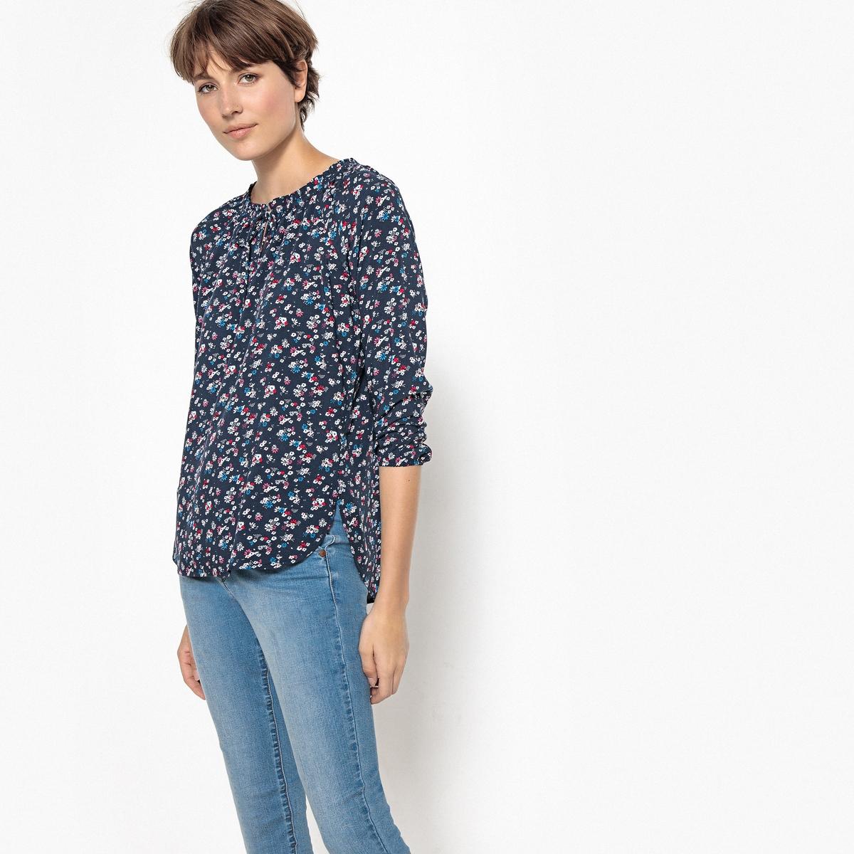 Блузка с цветочным рисунком и длинными рукавами blazer sir raymond tailor пиджаки и жакеты длинные