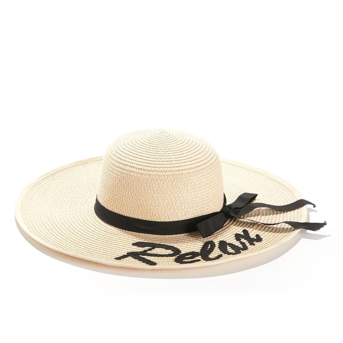 Шляпа из соломы с принтом-надписью, Relax