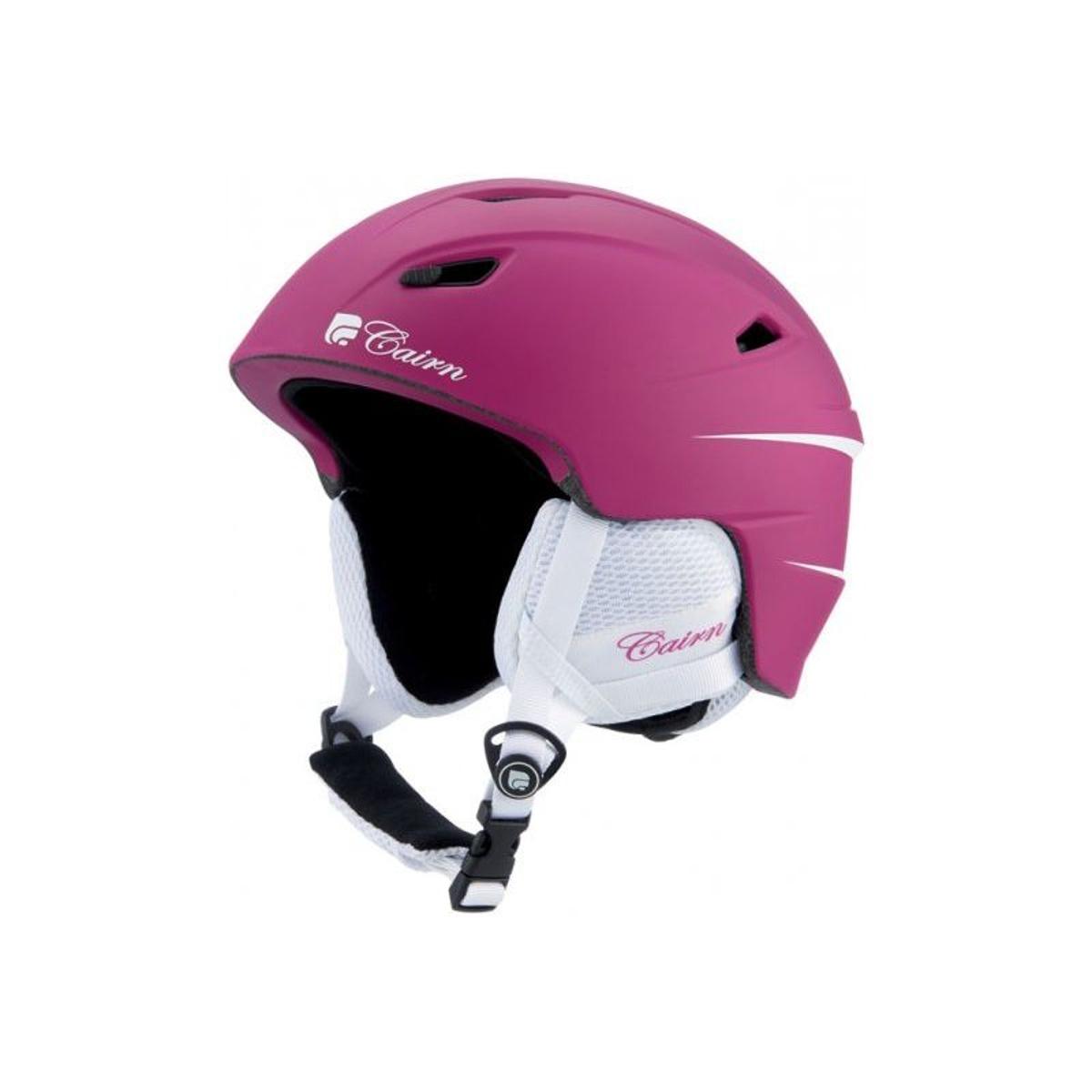 Casque de ski mixte CAIRN Rose ELECTRON U Cranberry Mat 57/58