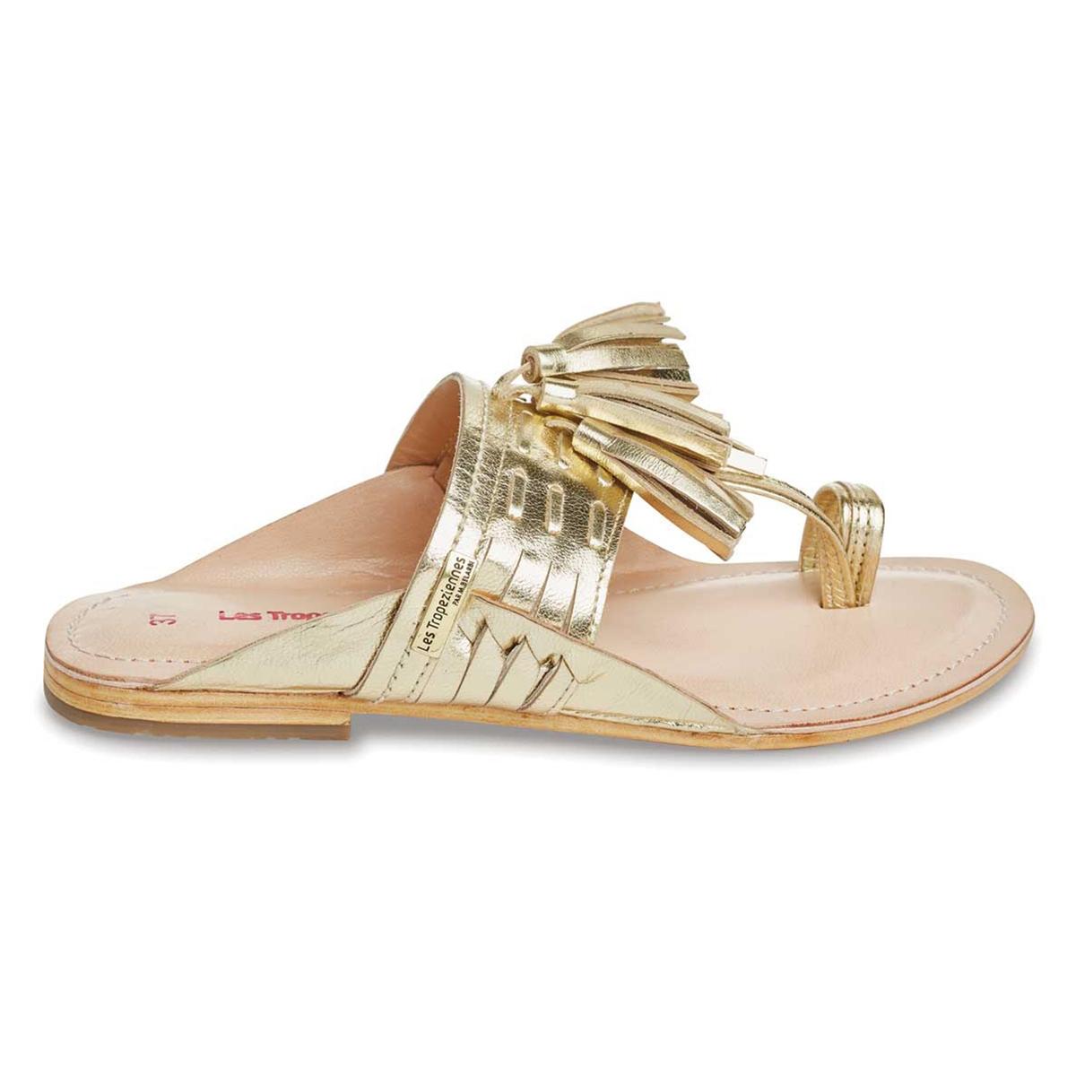 zapatillas Sandalias de piel con tira entre los dedos Opium