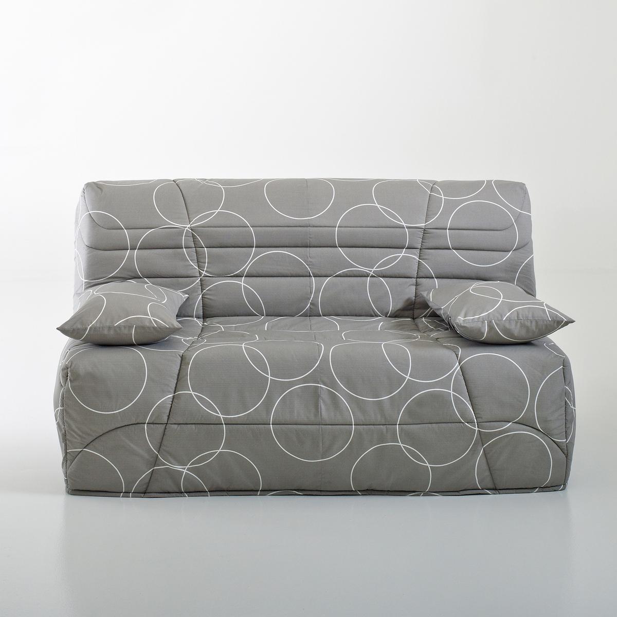 Чехол стеганый BZ, толщина 9 см, 250 г/м2Чехол для дивана-книжки, усовершенствованная модель : Для дивана-книжки, чехол позволит продлить срок службы вашего дивана-книжки!Сделано в Европе. Описание :- Стеганый чехол с наполнителем из полиэстера (250 г/м?)Застежка на молнию- Поставляется в комплекте с  2 чехлами на подушку-валик (кроме модели 90 см)Обивка :- Однотонная расцветка : 100% хлопок, пропитка от пятен (250 г/м?)- Расцветка с рисунком : 50% хлопка, 50% полиэстера- Меланжевая расцветка : 100% полиэстер- Предоставляем бесплатные образцы материала : Введите примеры дивана-книжки в поисковую систему на сайте laredoute.ruОткройте для себя другие модели коллекции BZ на сайте laredoute.ruРазмеры :3 варианта ширины :Ширина : 90 смШирина : 140 смШирина : 160 смРазмер подушки : Ш.50 x В.40 x Г.12 см<br><br>Цвет: рисунок круги