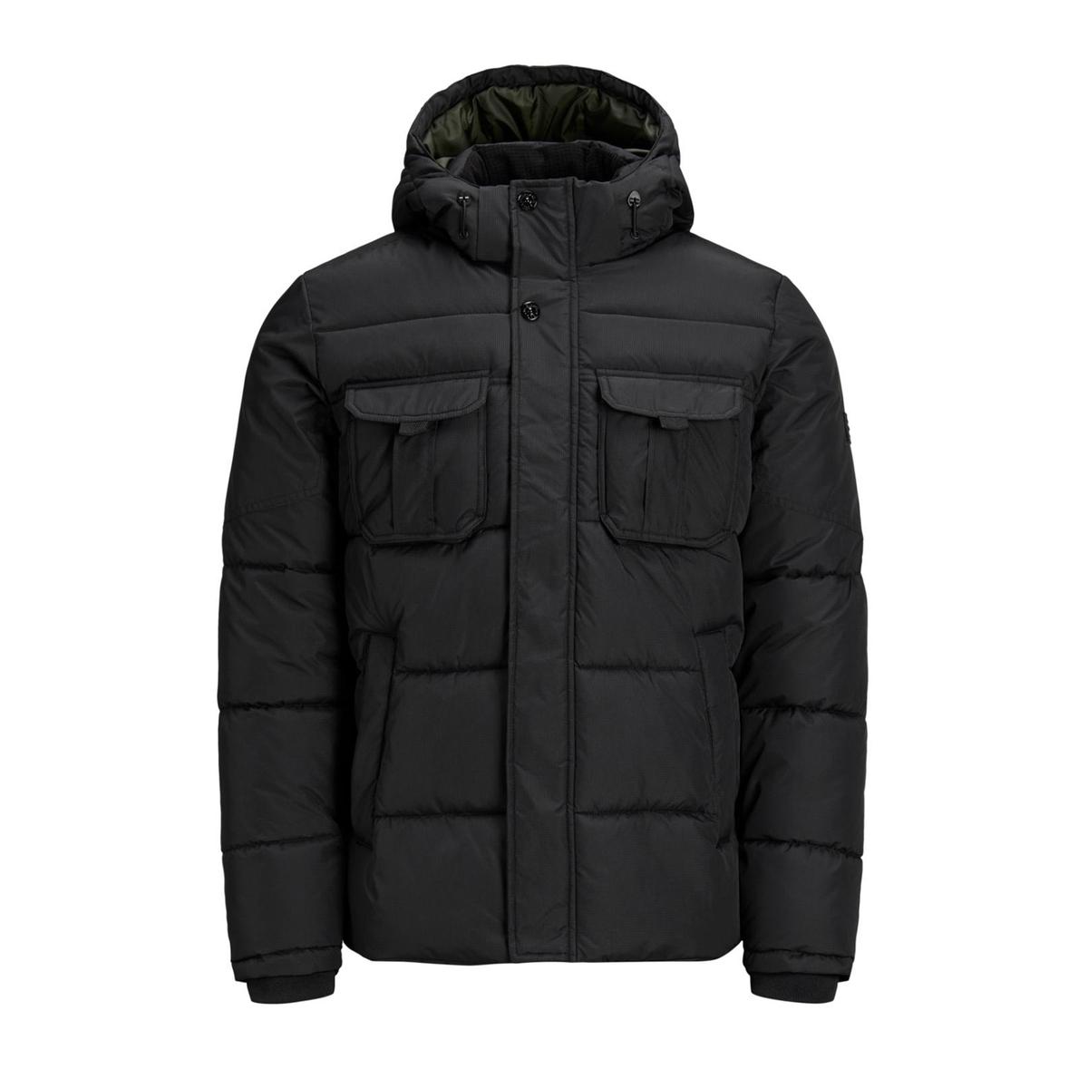 Куртка La Redoute Короткая с капюшоном демисезонная модель M черный цена