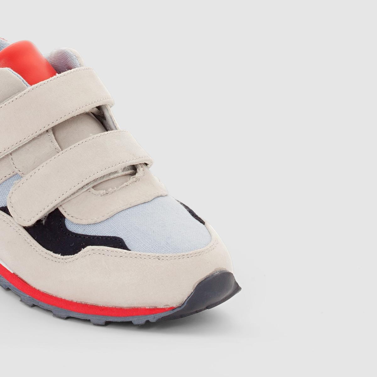 Кеды из тканиДетали  •  Спортивный стиль •  Плоский каблук •  Застежка : планка-велкроСостав и уход  •  Верх 80% полиэстера, 20% полиуретана •  Подкладка 100% хлопок<br><br>Цвет: синий + серый + красный<br>Размер: 36.35.38