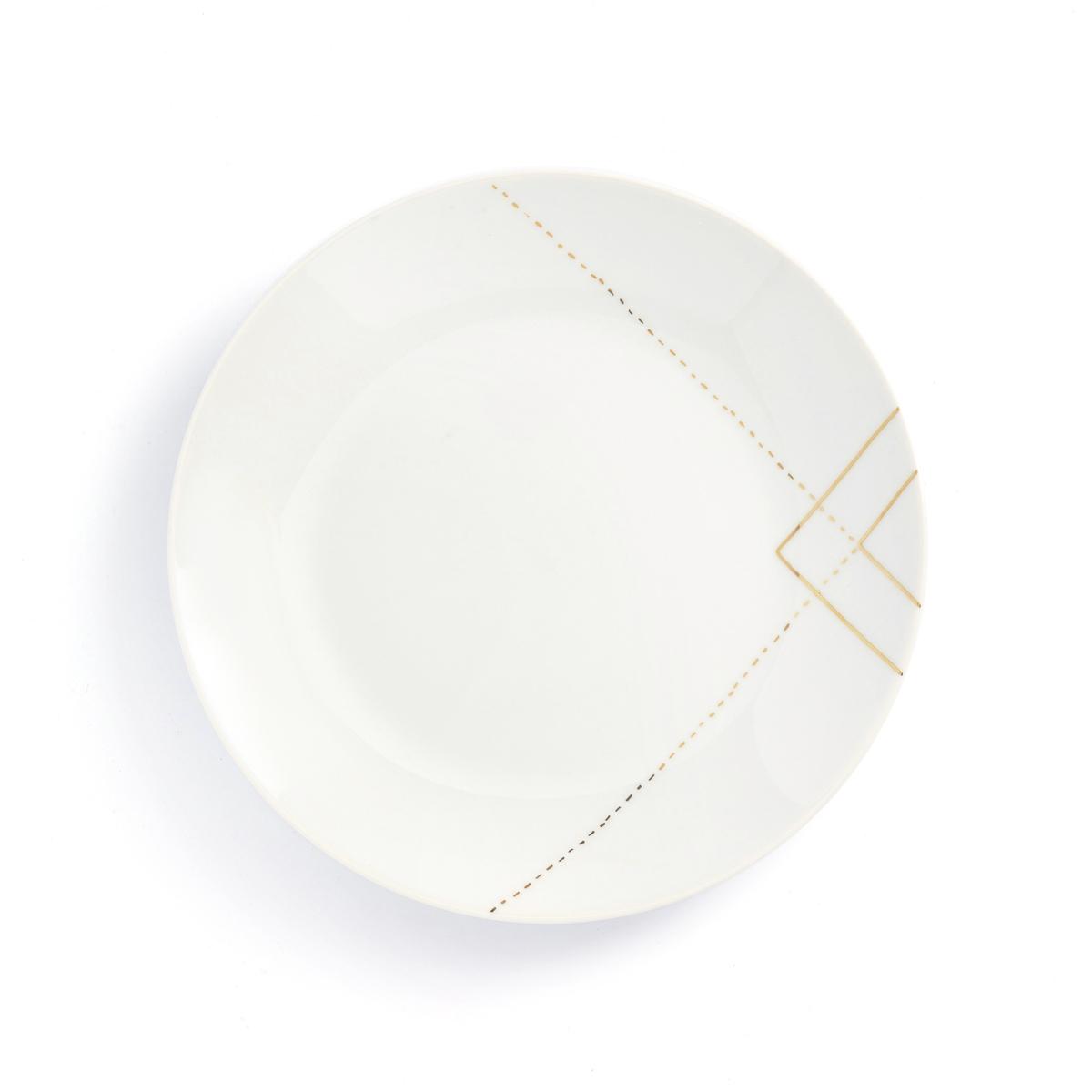 Тарелки La Redoute Десертные SOLAINE единый размер белый