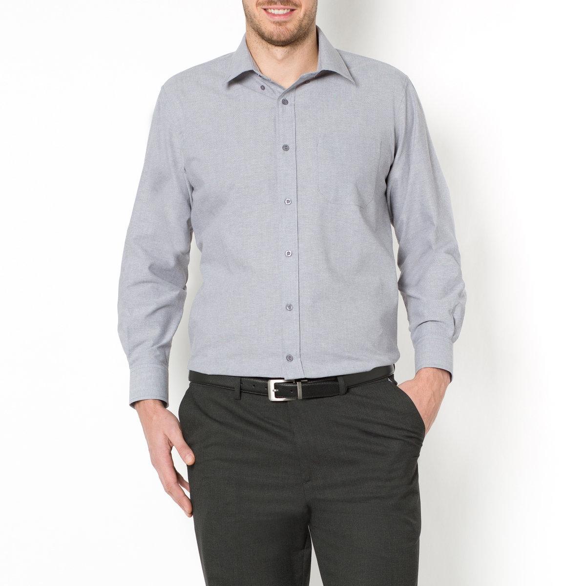 Рубашка La Redoute Прямого покроя с длинными рукавами 49/50 серый рубашка la redoute прямого покроя в клетку с длинными рукавами 45 46 серый