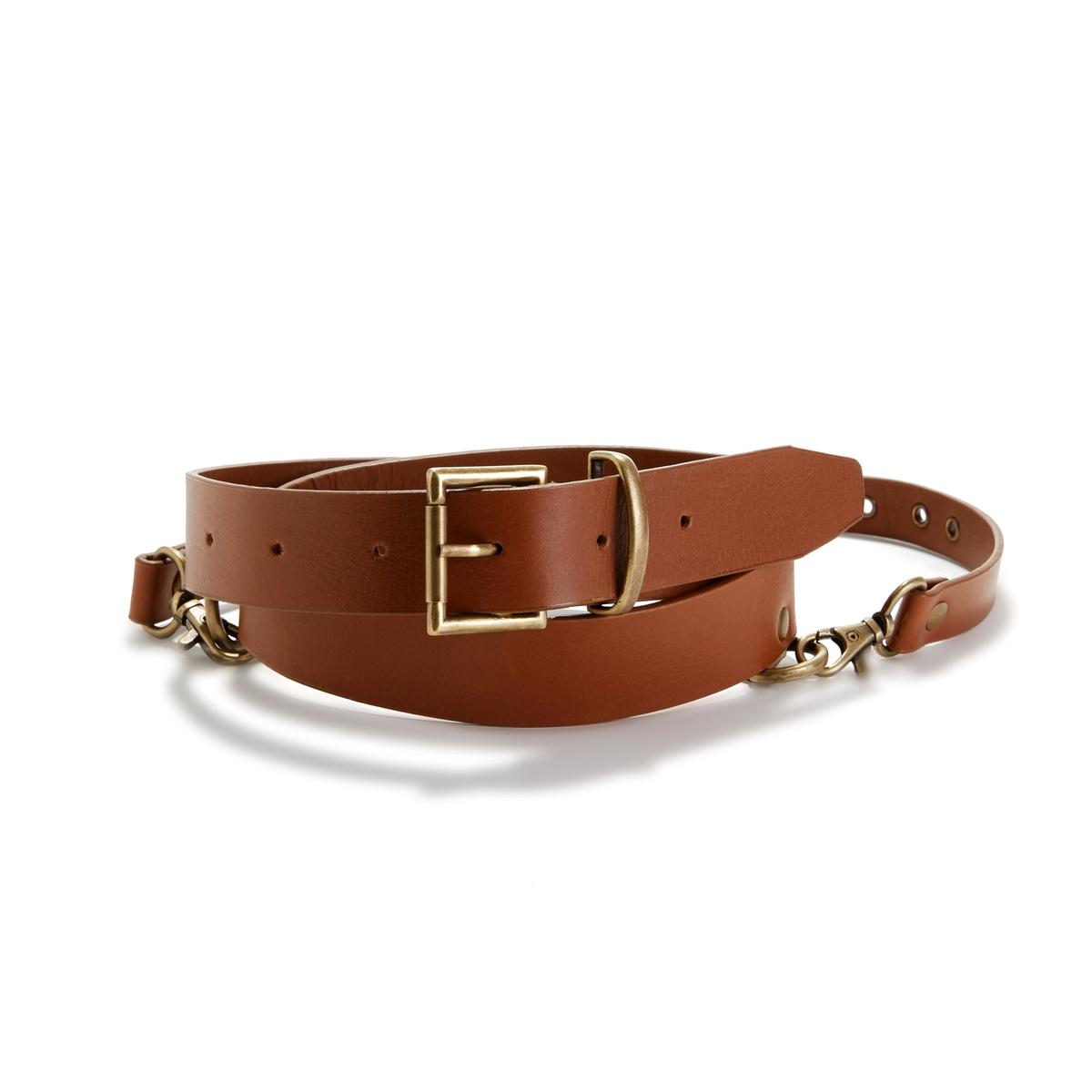 Cinturón con arnés de piel