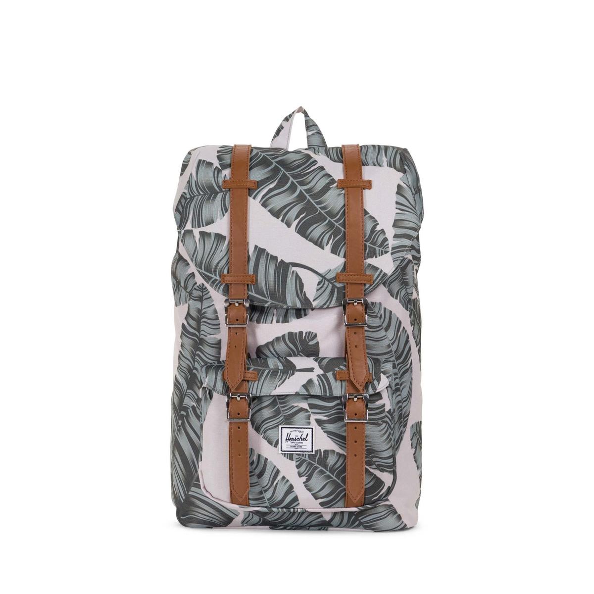 Рюкзак LITTLE AMERICA MID VOLUME 17LОписание:Рюкзак HERSCHEL модель  LITTLE AMERICA MID. Специальный карман для планшета 13 дюймов, на подкладке. Детали изделия•  Мягкий карман с подкладкой из флиса для планшета 13 дюймов .    •  Застежка на регулируемый шнурок и бретельки на магнитах .    •  Небольшой карман на молнии спереди  •  Размер : 49 x 29 x 18 см Состав и описание •  100% полиэстер •  Следуйте советам по уходу, указанным на этикетке<br><br>Цвет: рисунок листьев