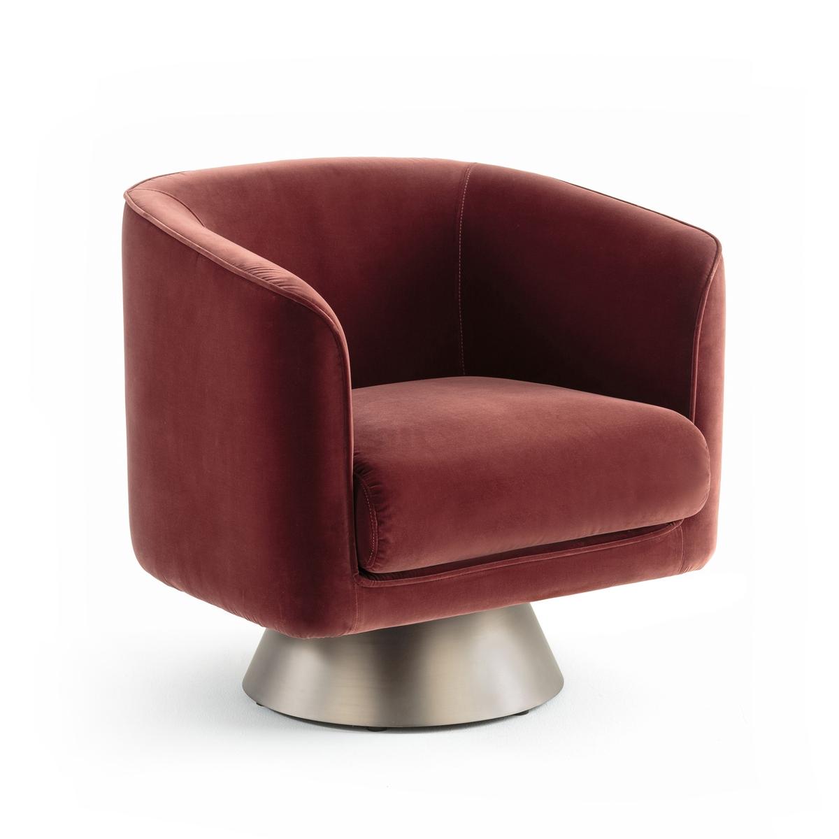 Кресло LaRedoute Вращающееся Austin единый размер каштановый