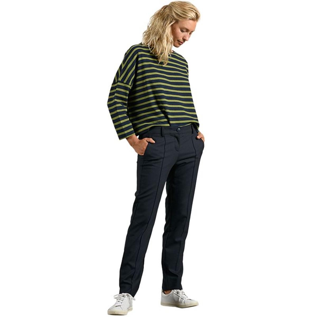 Pantalon cigarette taille élastiquée