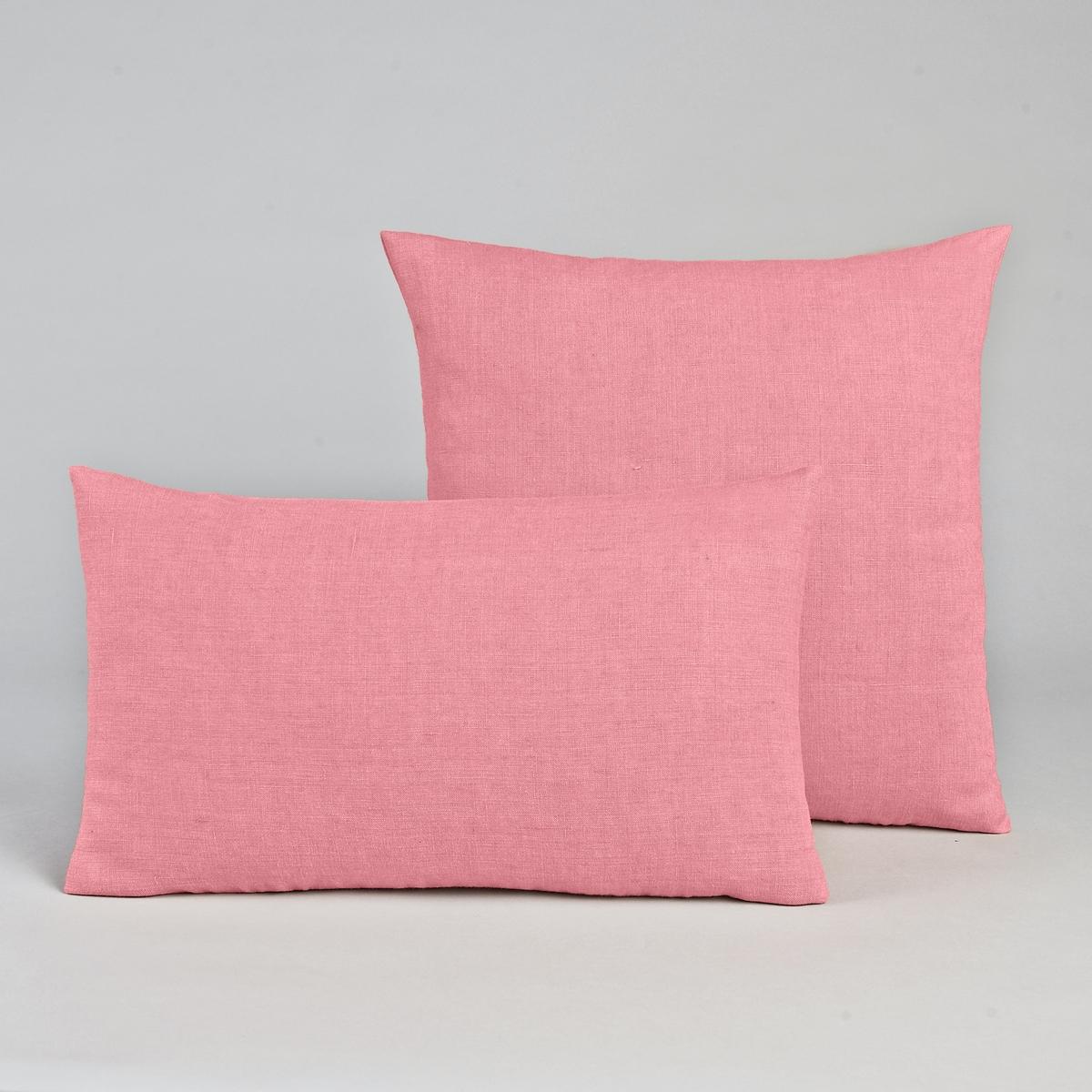 Льняной чехол для подушки, GeorgetteЛьняной чехол для подушки Georgette отлично сочетается с покрывалом Georgette, которое вы можете приобрести на сайте ampm.ru. Лен : создаёт ощущение нежности и мягкости, со временем он становится более эластичным и более красивым.Материал : - 100% льнаРазмер : - 50 x 30см : прямоугольная форма- 45 x 45 см : квадратная наволочка<br><br>Цвет: розовый
