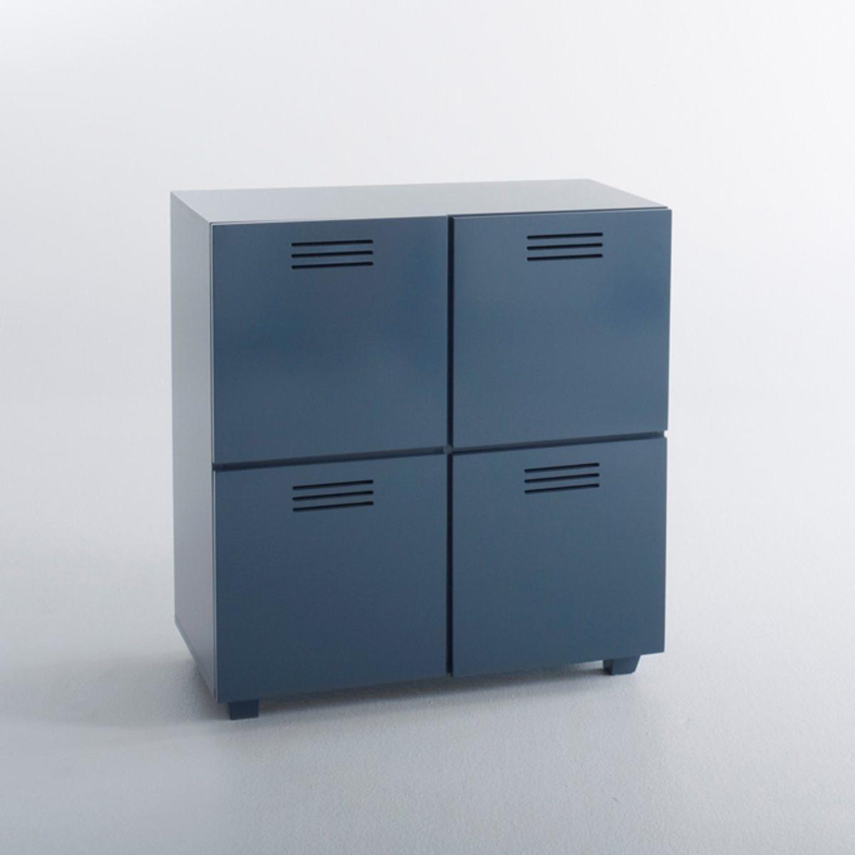 Комод 4-х дверный HibaОригинальный комод Hiba в лофт-стиле, выполненный в форме закрытого ящика с 4 дверцами в 3 цветовых решениях. Идеален как для хранения вещей, так и игрушек...Описание комода Hiba:1 ящик4 дверцыХарактеристики Описание комода Hiba:Из МДФ.Покрытие нитроцеллюлозным лаком.Всю коллекцию Hiba вы можете найти на сайте laredoute.ru.Размеры :Общие размеры: Ширина : 70 смВысота : 75 смГлубина : 37 смВнутренние размеры : Ш.32,5 x В.32 x Г.35,5 см.Доставка:Товар продается в разобранном виде.Возможна доставка до двери по предварительной договоренности.Внимание! Убедитесь, что возможно осуществить доставку товара, учитывая его габариты (проходит в дверные проемы, лестничные проходы, лифты).<br><br>Цвет: Серо-синий