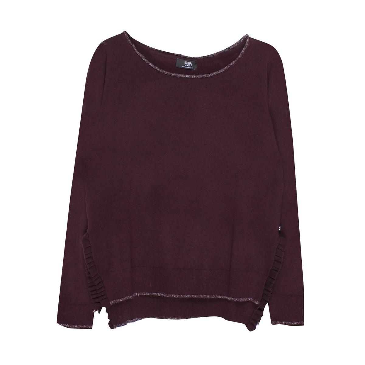 Пуловер La Redoute С вырезом-лодочкой из тонкого трикотажа S красный пуловер la redoute с круглым вырезом из тонкого трикотажа m красный