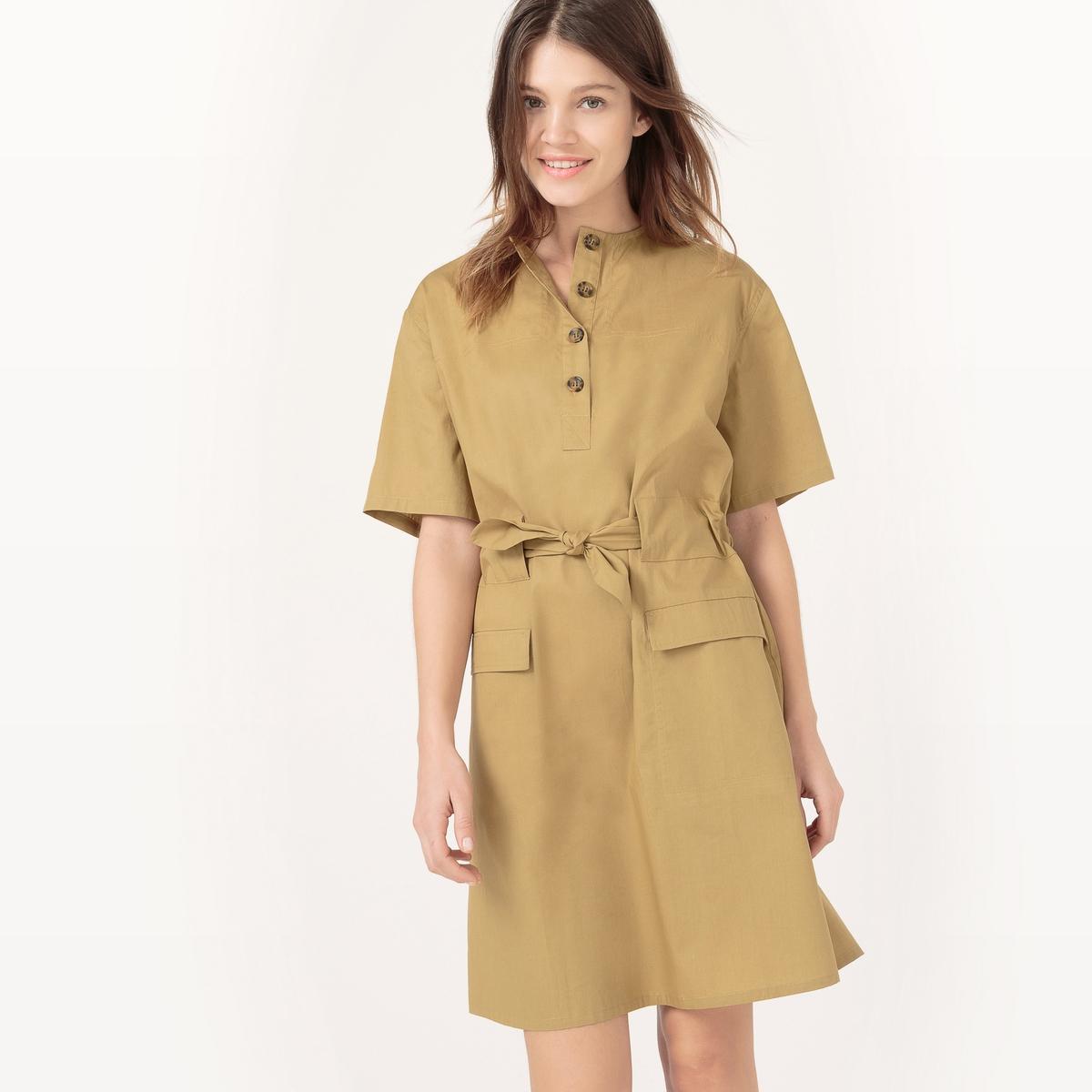 Платье с ремешком, длина по колено, однотонное платье maurini платья и сарафаны приталенные