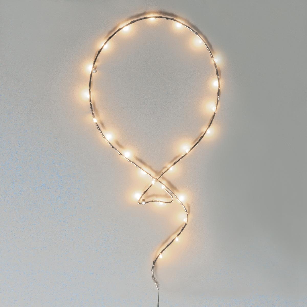 Шар светящийся BumbumСветящееся настенное украшение Bumbum. Подходит для современного интерьера, украшение придаст оригинальности вашему декору благодаря рассеянному освещению.Описание настенного украшения Bumbum :Настенный светильник с миниатюрными светодиодами.25 несменных миниатюрных светодиодовРаботает от трансформатора 3 В (в комплекте).Электрический провод 3 м. Характеристики настенного украшения Bumbum :Из металла с хромированным покрытием.Использовать только внутри помещения . Размеры настенного украшения Bumbum :Высота 54 см, длина 20 см.Размеры и вес посылки: 1 посылкаШ.51 x Г.22 x В.6 см.0,7 кг<br><br>Цвет: темно-серый