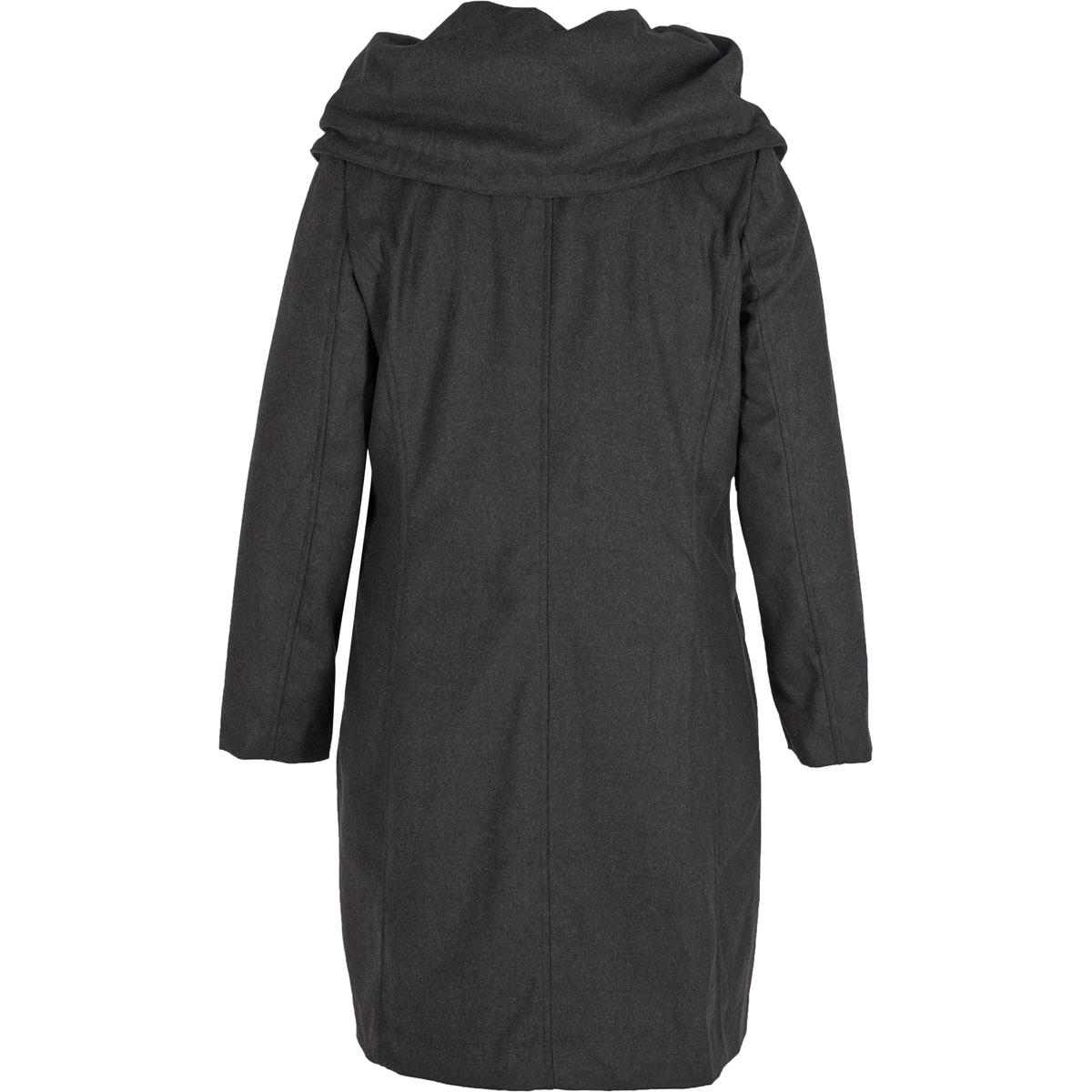 ПальтоПальто - ZIZZI. 100% полиэстер. Красивое пальто Zizzi. Косые карманы вдоль боковых швов, что придает пальто простоту и элегантность. Красивый воротник, на подкладке, застежка на скрытую пуговицу.<br><br>Цвет: серый<br>Размер: 42/44 (FR) - 48/50 (RUS)