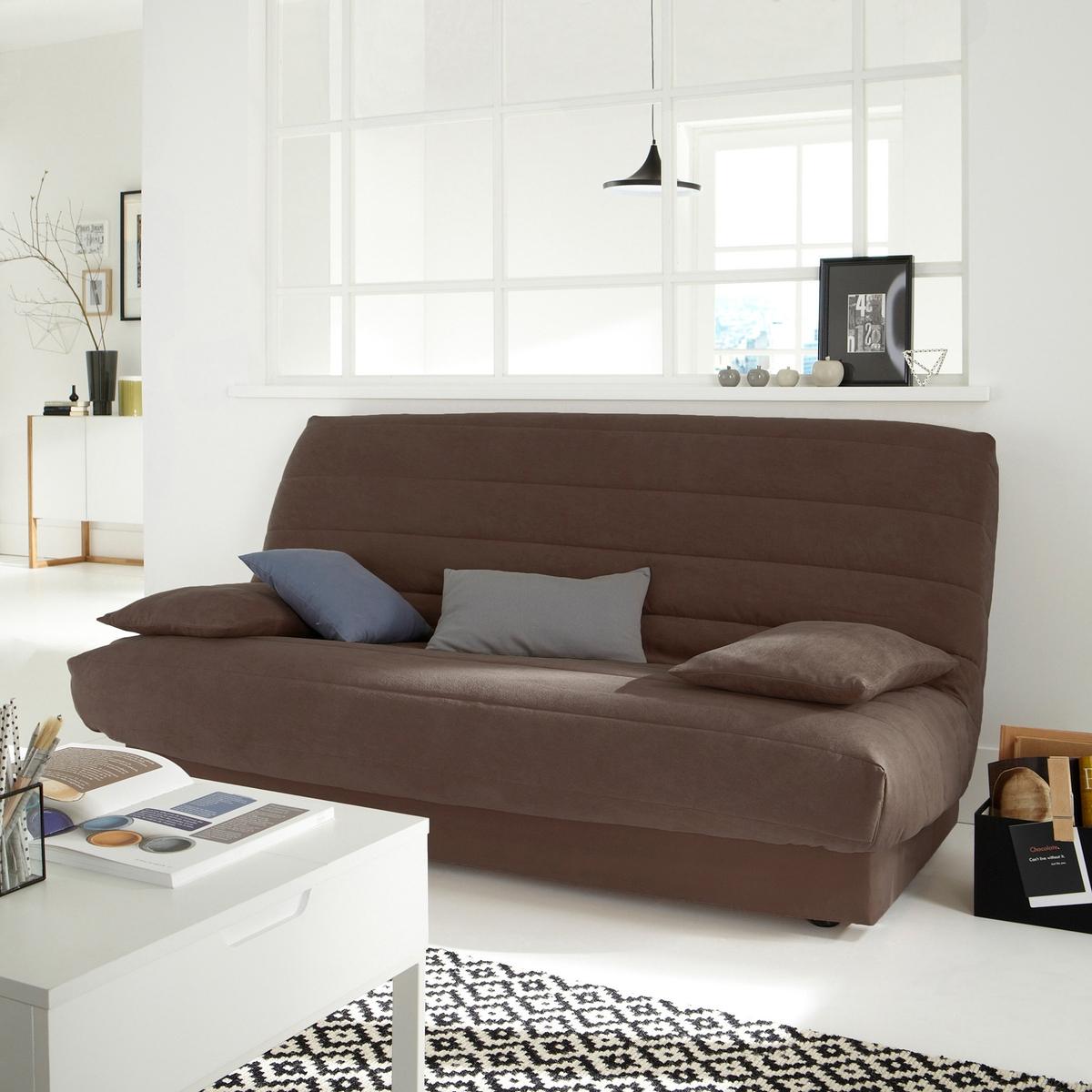 Чехол LaRedoute Из искусственной замши для раскладного дивана единый размер каштановый