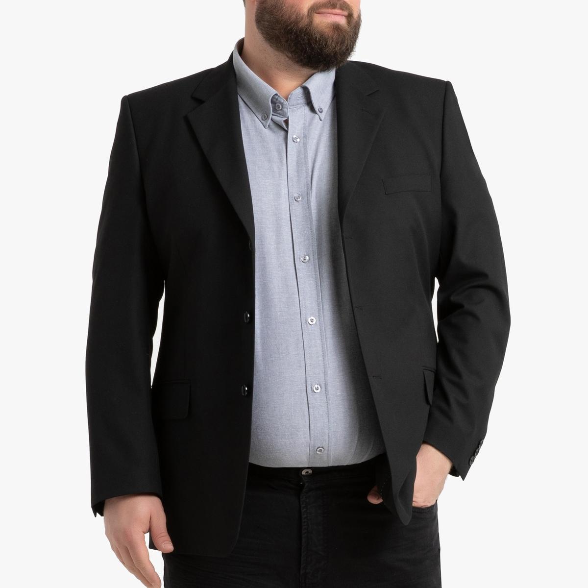 Фото - Пиджак LaRedoute Костюмный прямого покроя на рост от 176 до 187 см 76 черный юбка laredoute джинсовая прямого покроя xs синий