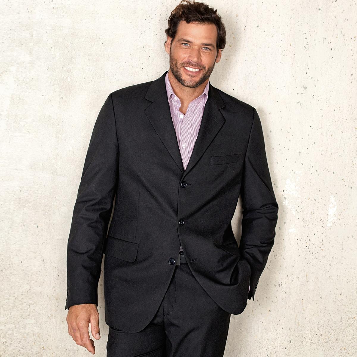 Брюки от костюма без защипов из ткани стретч, длина.2Брюки от костюма без защипов, длина 2. Высококачественная эластичная ткань, 62% полиэстера, 33% вискозы, 5% эластана. Подкладка 100% полиэстер. Длина 2 : при росте от 187 см.Можно носить как в сочетании с пиджаком, так и отдельно. Полнота пояса регулируется и подстраивается под любую морфологию. Застежка на молнию, пуговицу и крючок. 2 косых кармана. 1 прорезной карман с пуговицей сзади. Необработанный низ. Длина 2 : при росте от 187 см.- Длина по внутр.шву : 91,8-94,8 см, в зависимости от размера. - Ширина по низу : 21,4-27,4 см, в зависимости от размера. Есть также модель длины 1: при росте до 187 см. Есть также модель с защипами.<br><br>Цвет: антрацит,темно-синий,черный<br>Размер: 48 (FR) - 54 (RUS).52 (FR) - 58 (RUS).58.64.48 (FR) - 54 (RUS).58.54