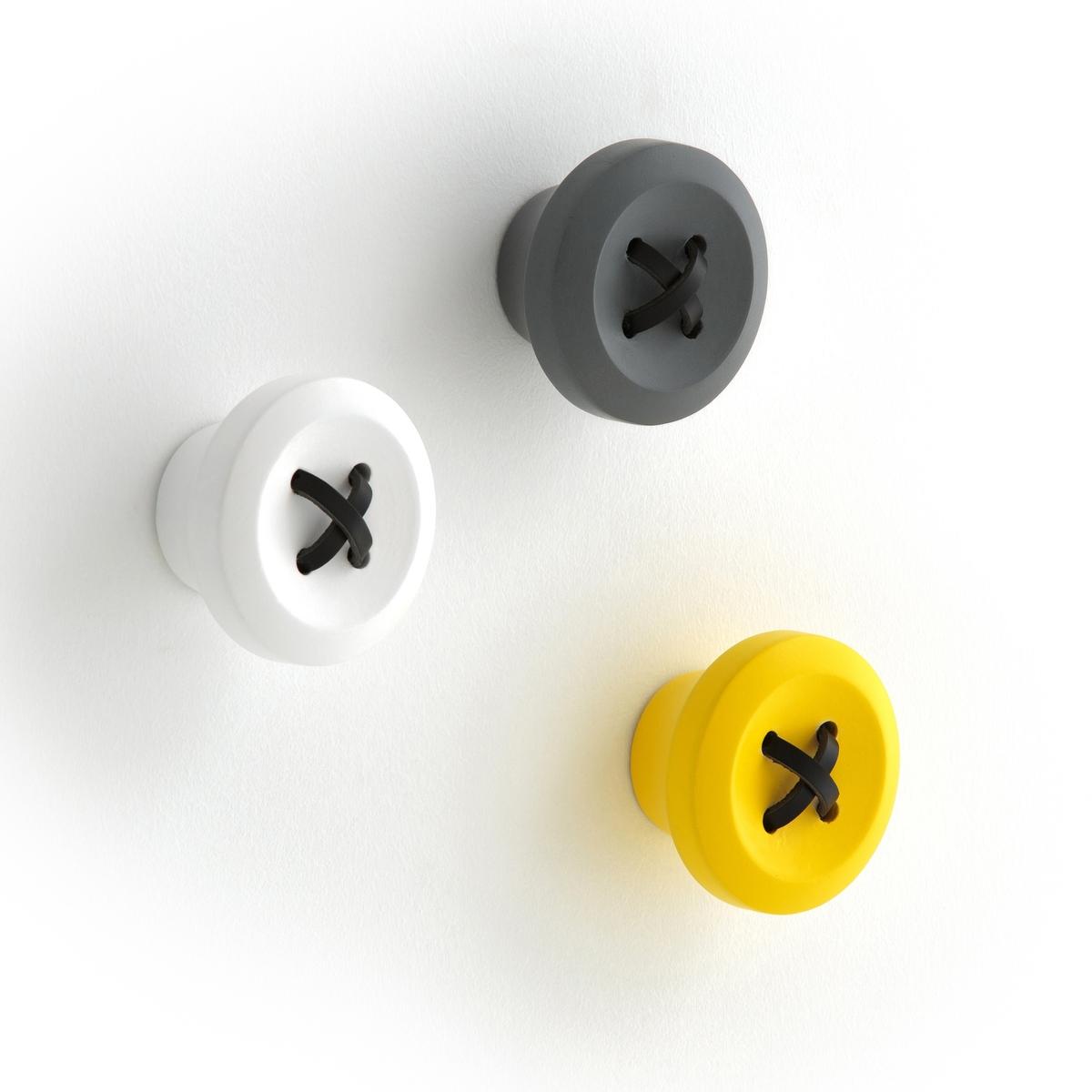 Вешалка MalarkoВешалка Malarko. Оригинальная вешалка среднего размера в форме пуговицы с кожаным шнурком. Крепление на стену при помощи планки (шурупы и дюбеля в комплект не входят). . : ?8 x Г5 см.<br><br>Цвет: желтый