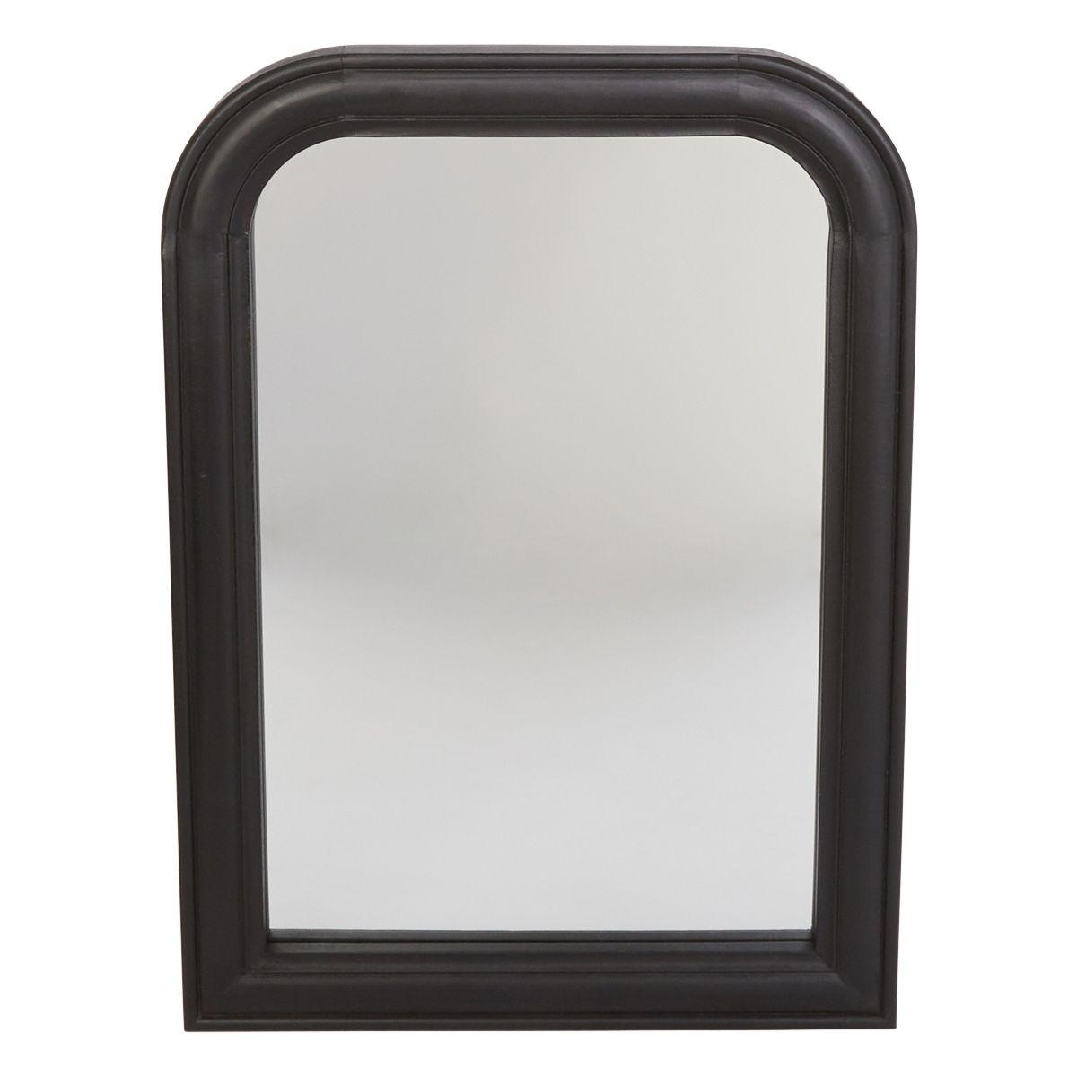 Miroir Cheminée Osmann Bois Noir 70 X 50 Cm