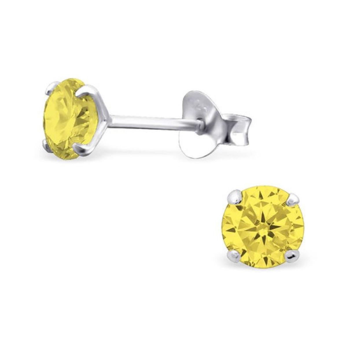 Boucles d'oreilles Rond Disque 5 mm Argent 925