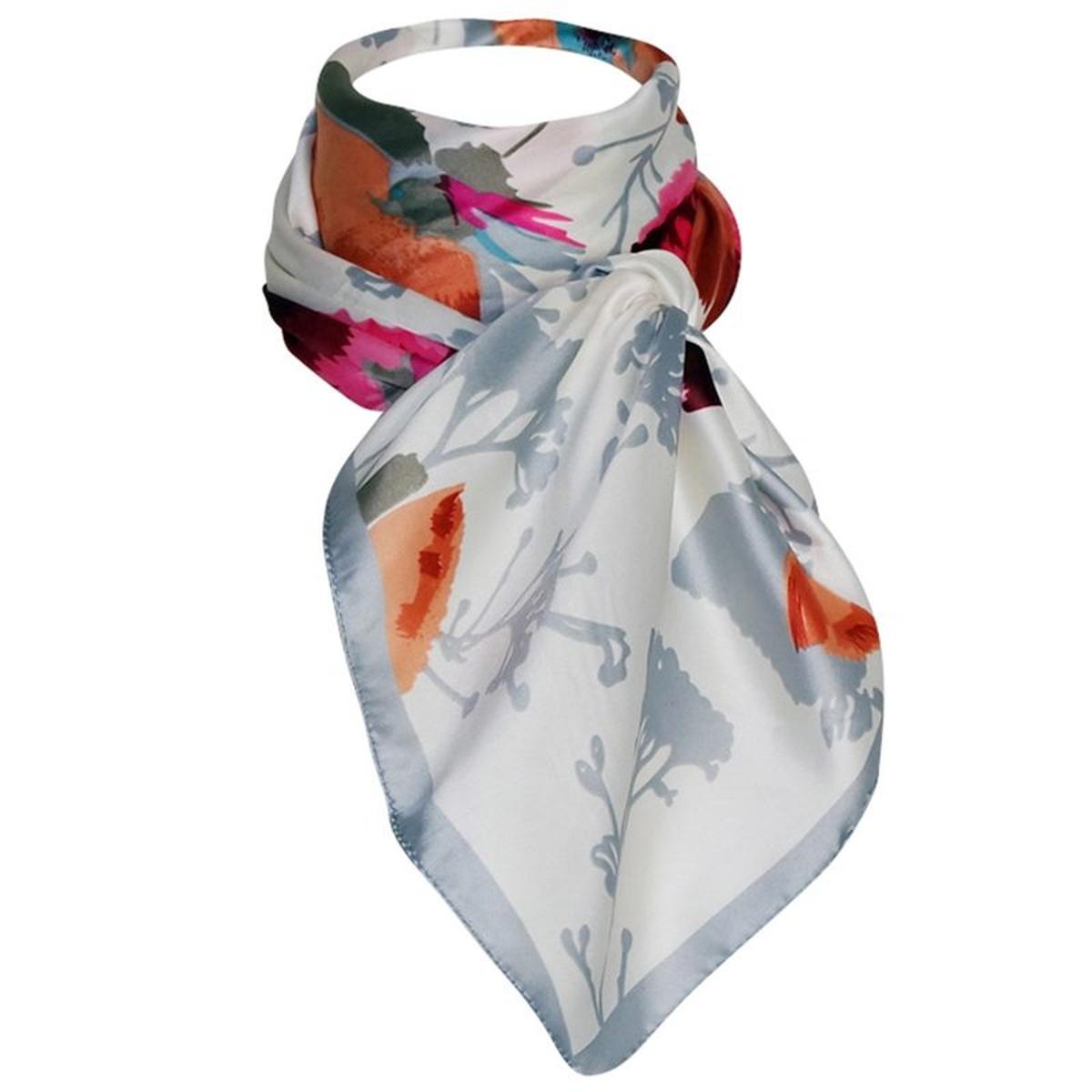 ddec5fa1549c CHAPEAU-TENDANCE grand foulard en soie printanier Caleen